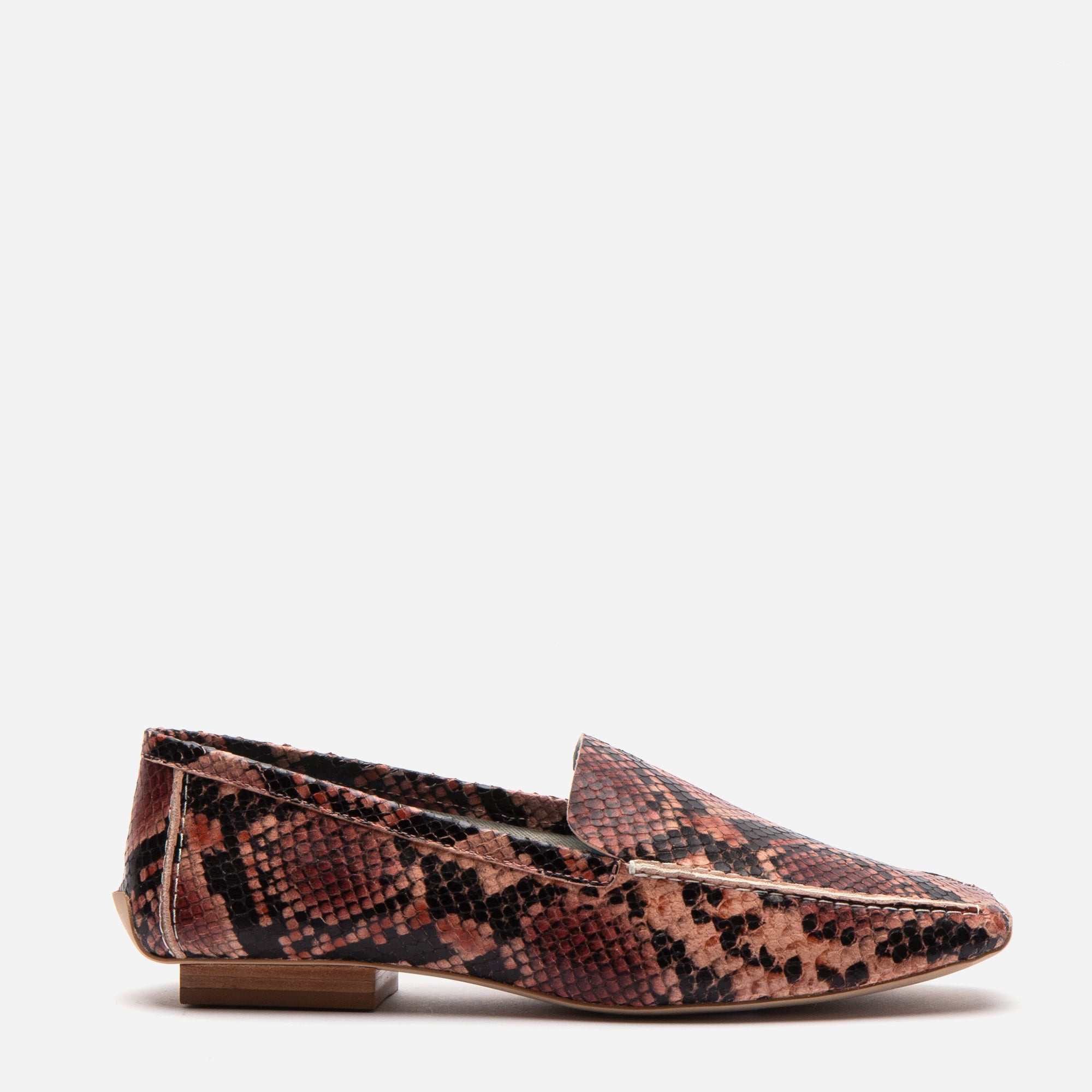 Elyce Loafers Printed Snake Pink