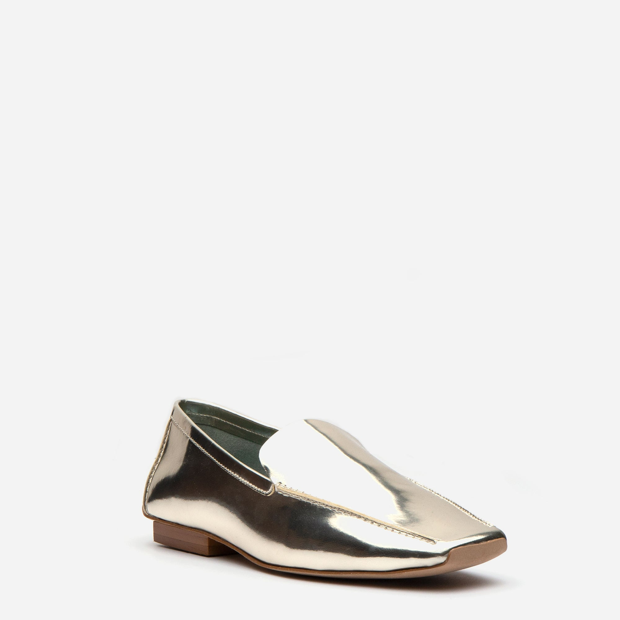 Elyce Loafers Metallic Vegan Platino