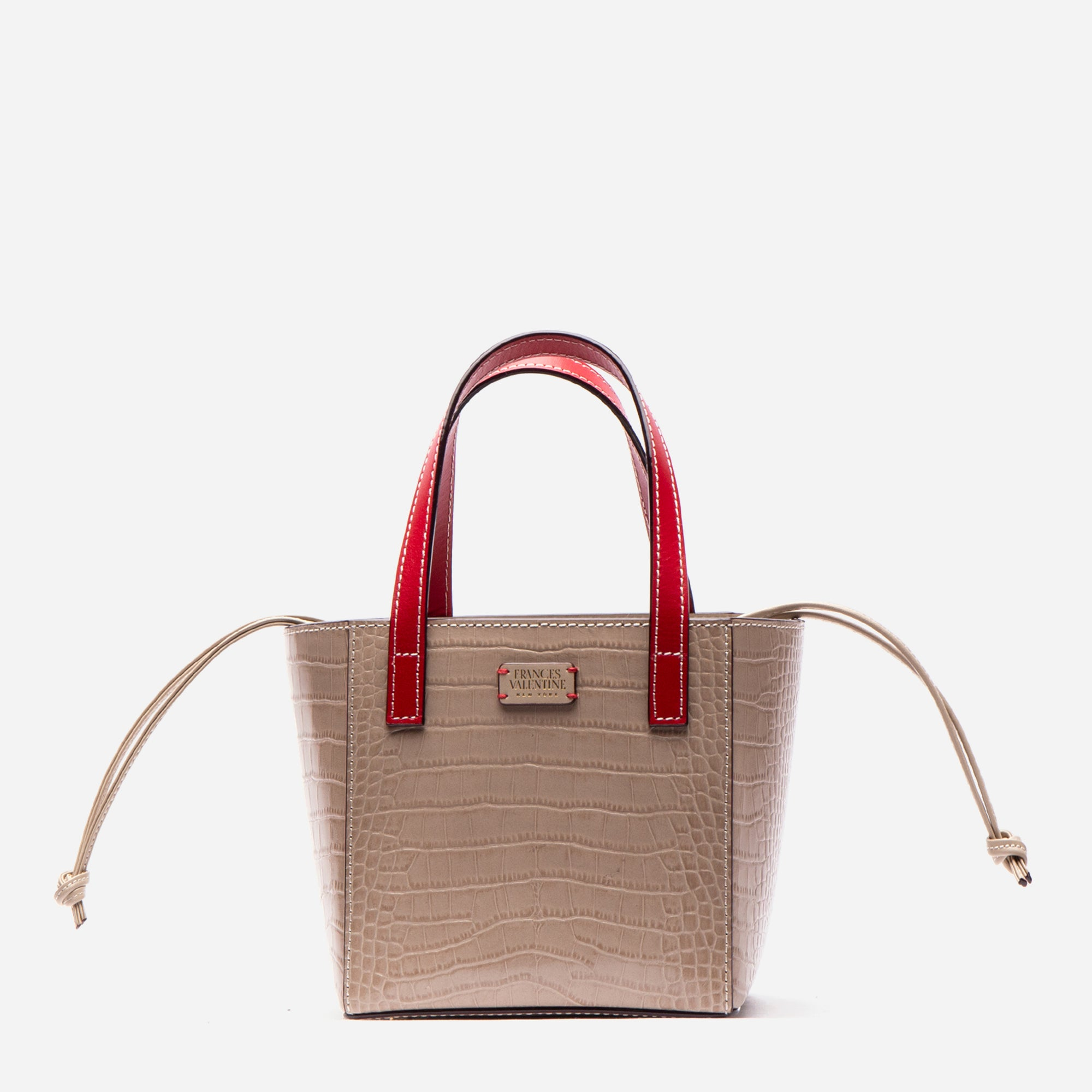 Moxy Cube Tote Croc Embossed Oyster