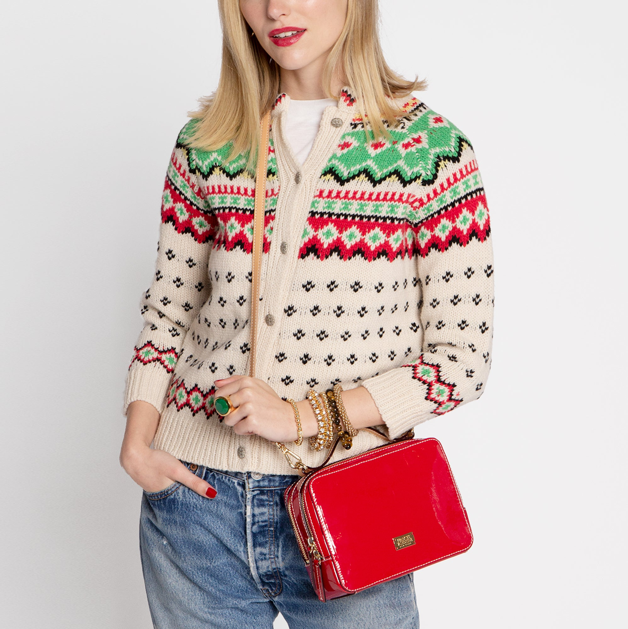 Fair Isle Cardigan Sweater - Frances Valentine
