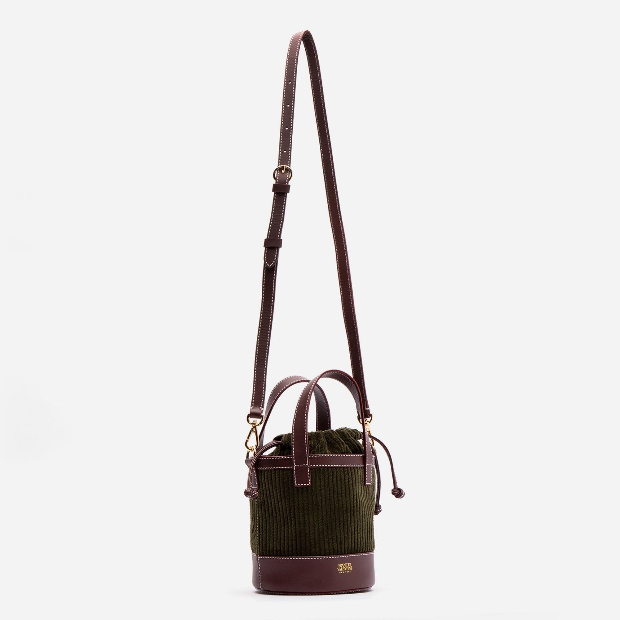 Small Corduroy Bucket Bag Olive