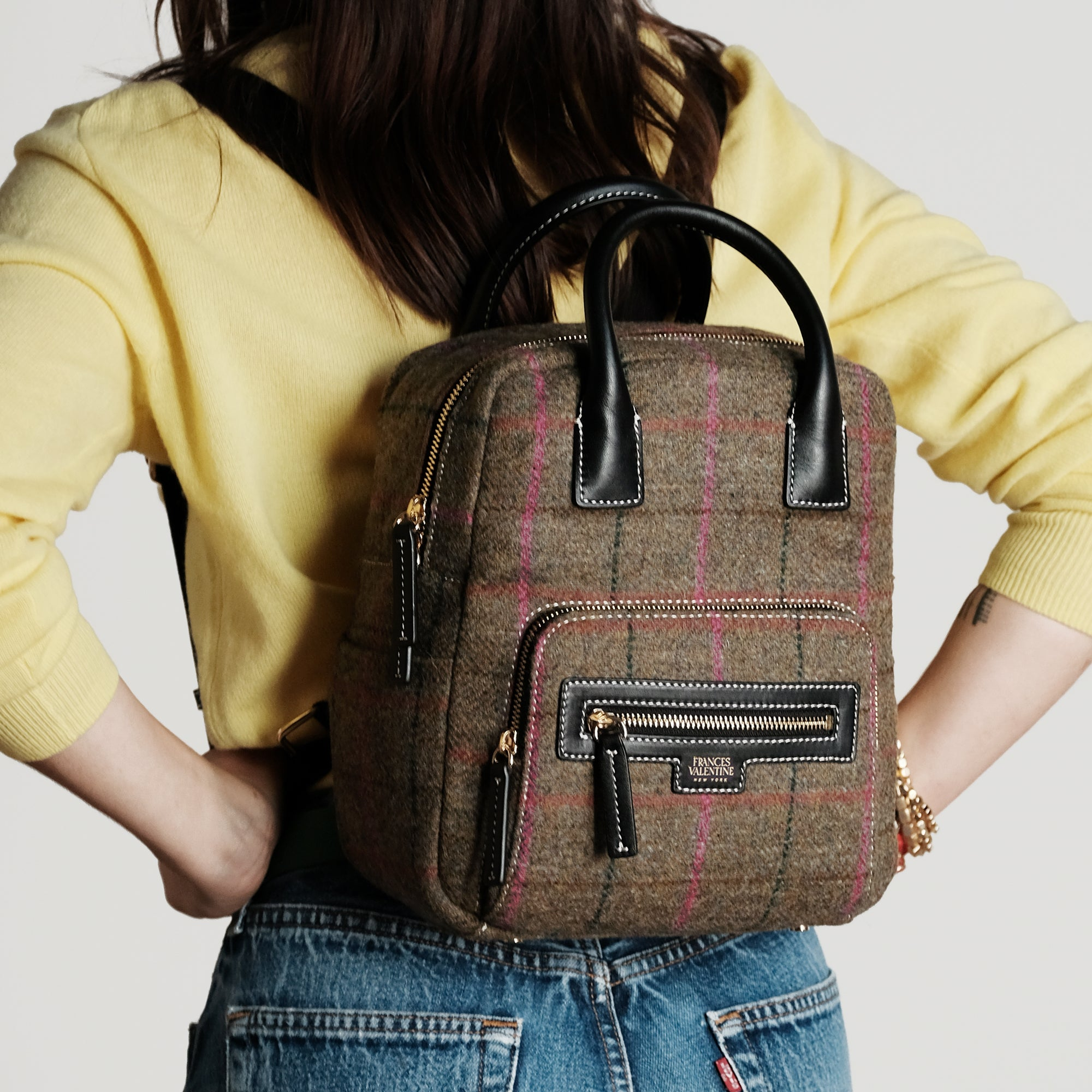 Backpack Equestrian Plaid