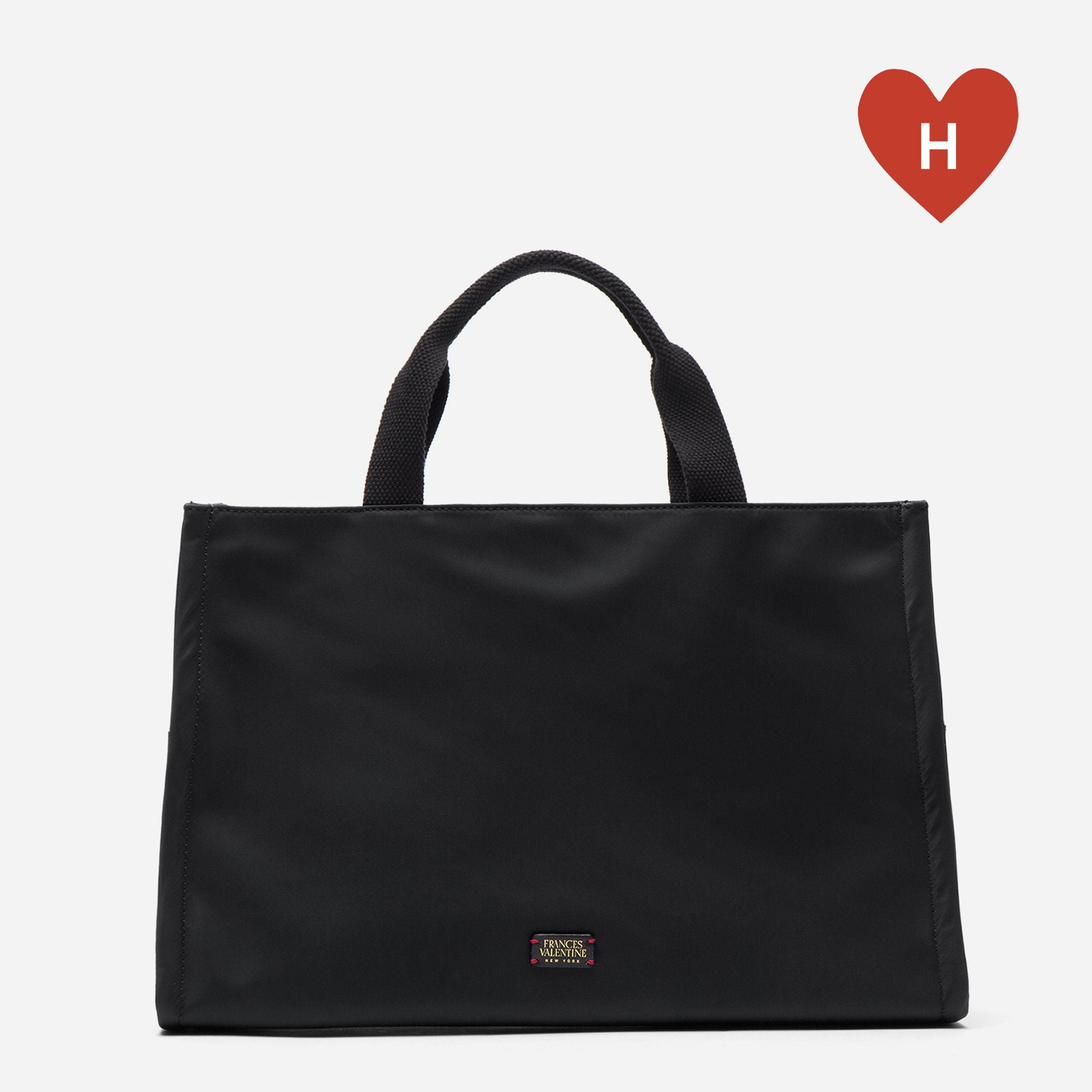 *DONATE TO A HEALTHCARE HERO* Kate Top Handle Tote Black - Frances Valentine