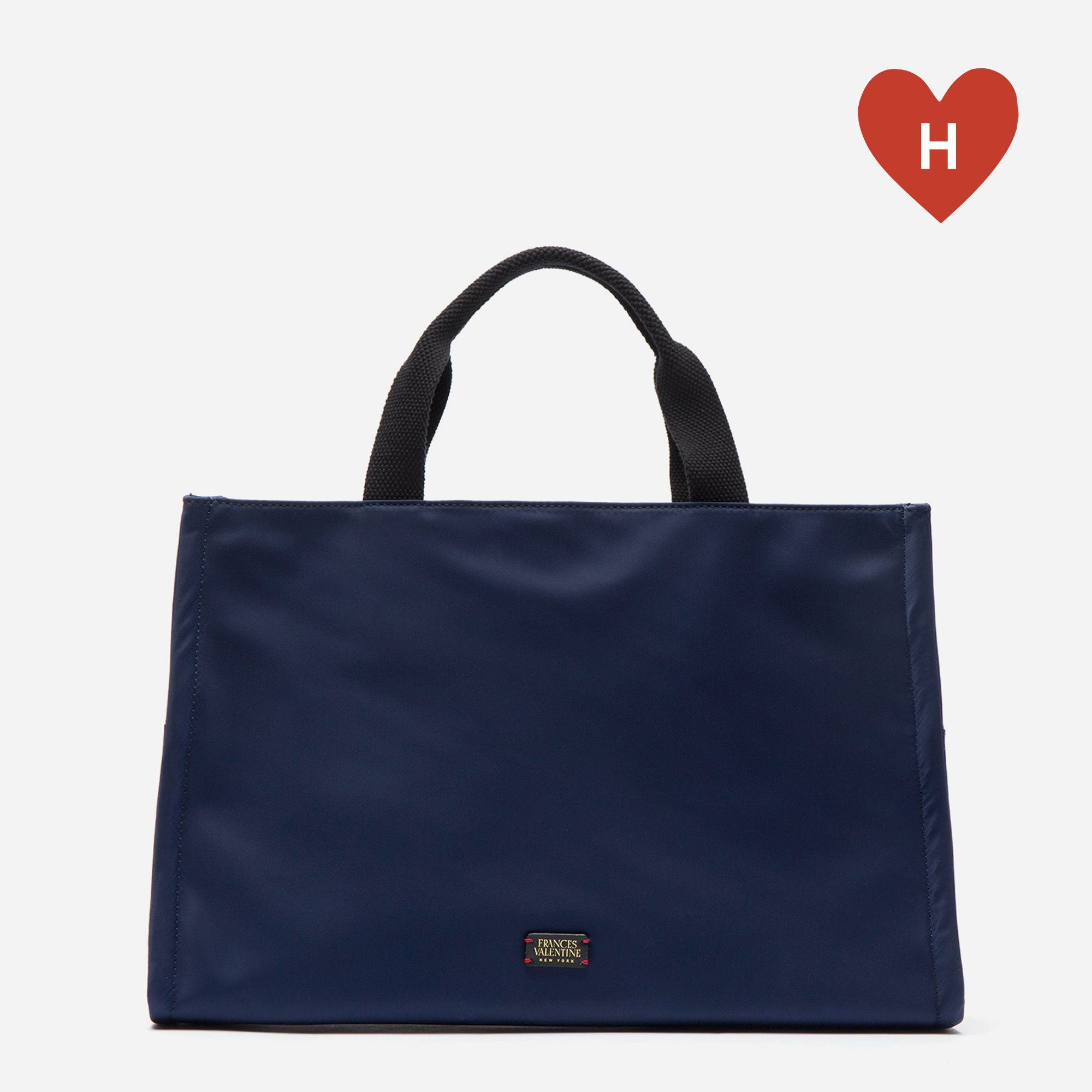 *DONATE TO A HEALTHCARE HERO* Kate Top Handle Tote Navy - Frances Valentine
