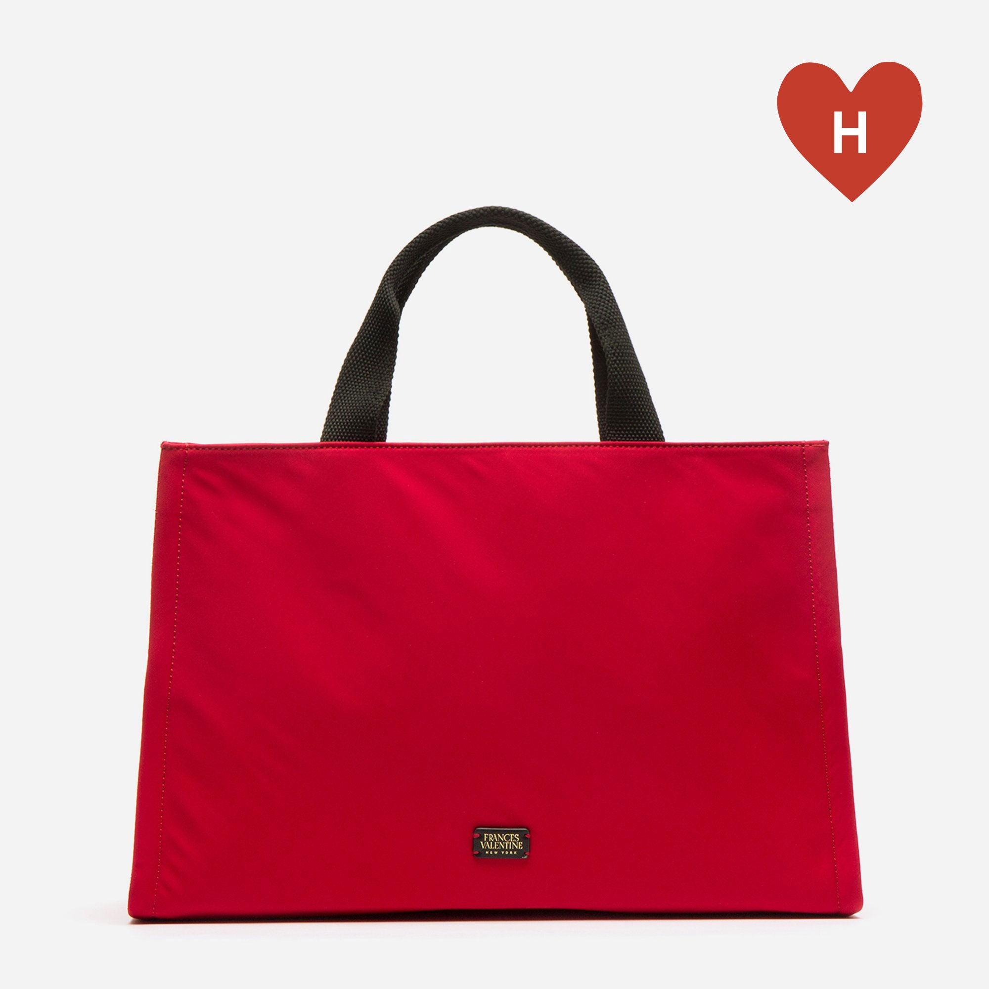*DONATE TO A HEALTHCARE HERO* Kate Top Handle Tote Red - Frances Valentine