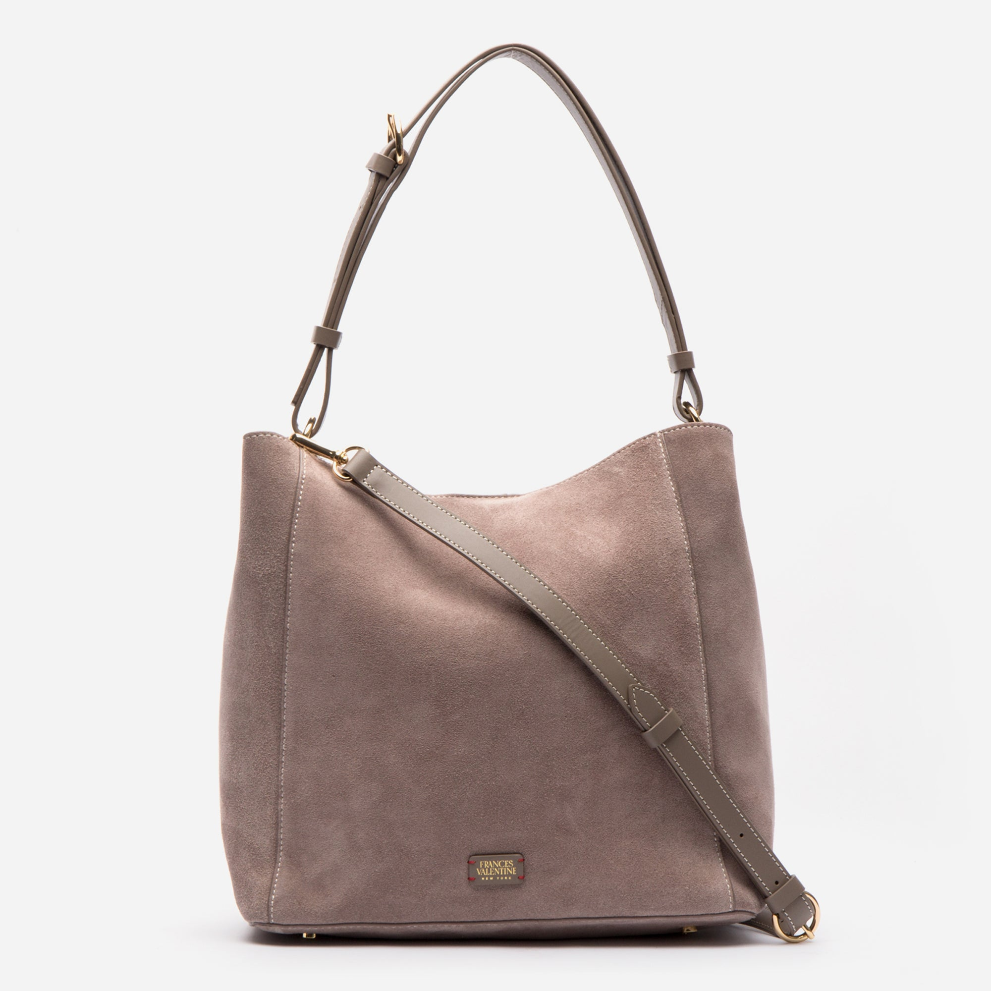 June Hobo Handbag Suede Grey