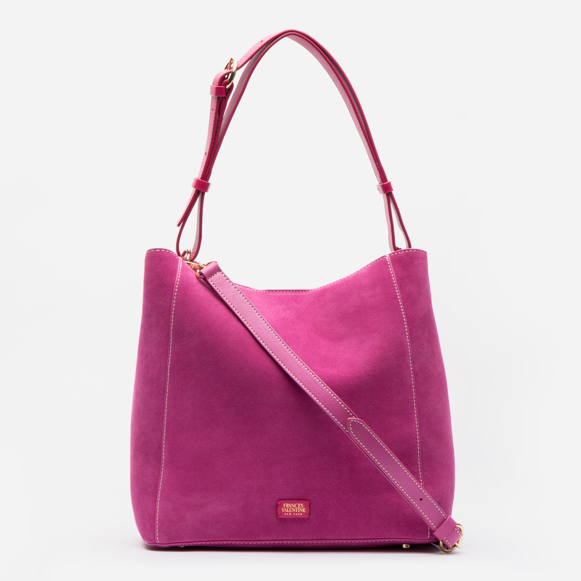 June Hobo Handbag Suede French Pink
