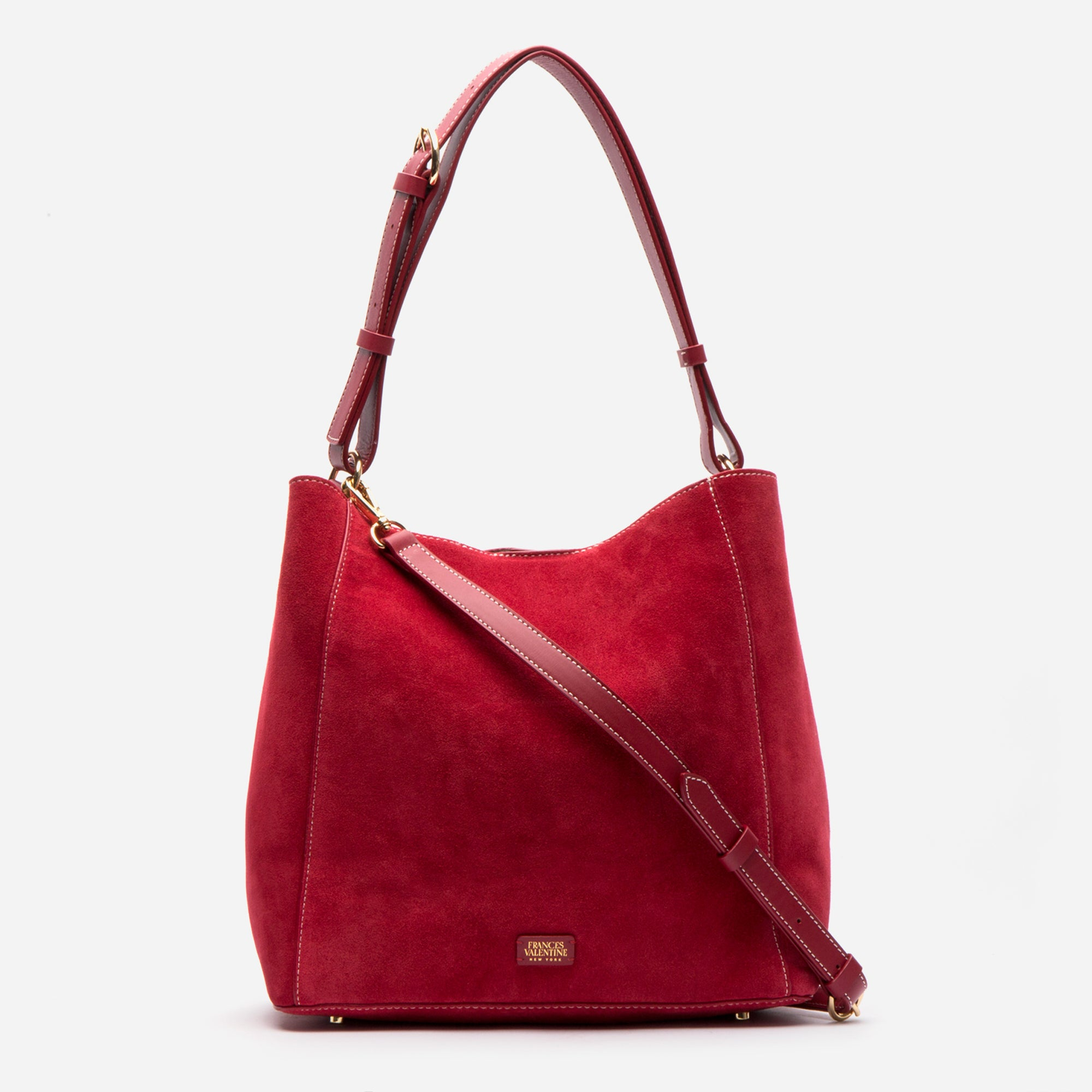 June Hobo Handbag Suede Red