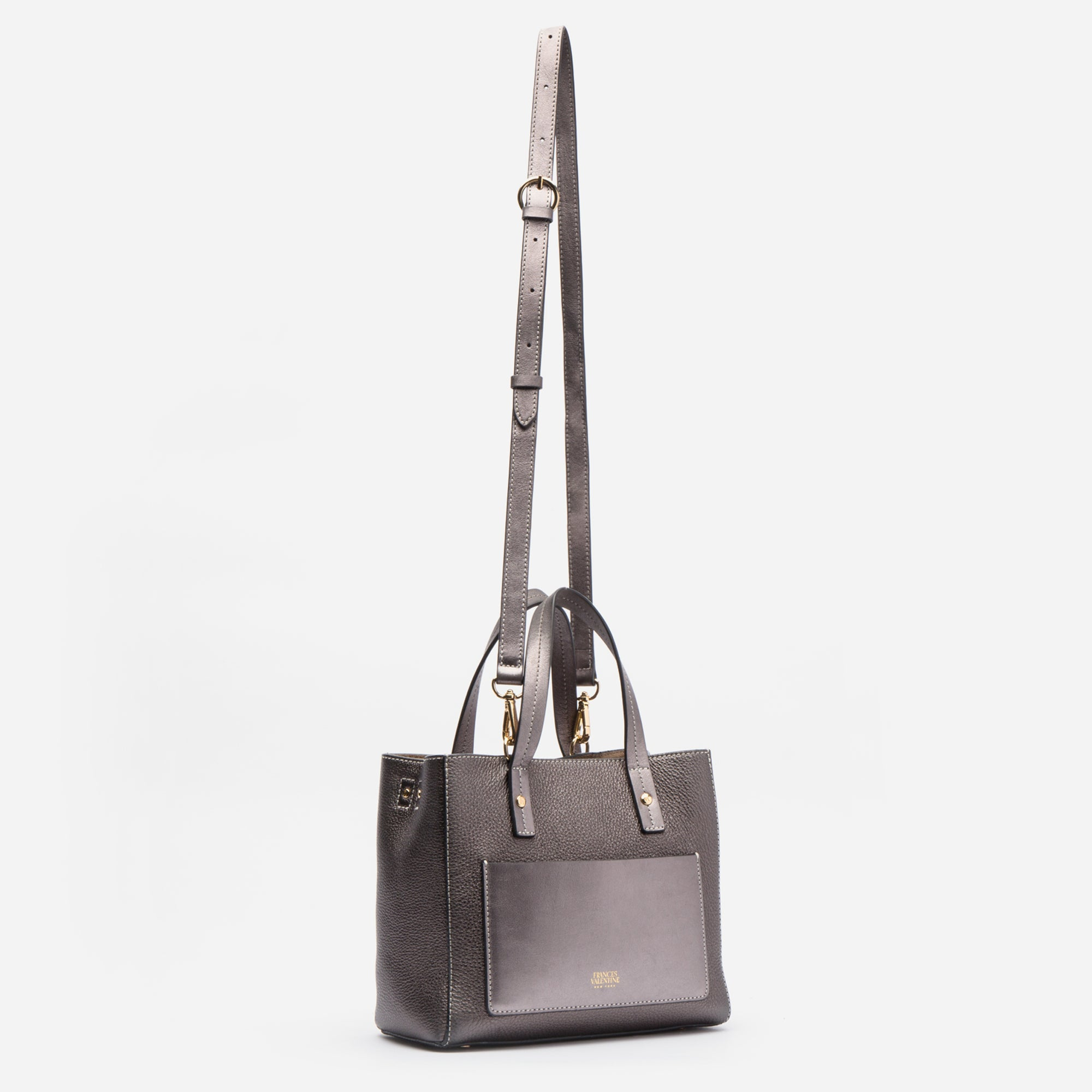 Small Chloe Pewter Leather