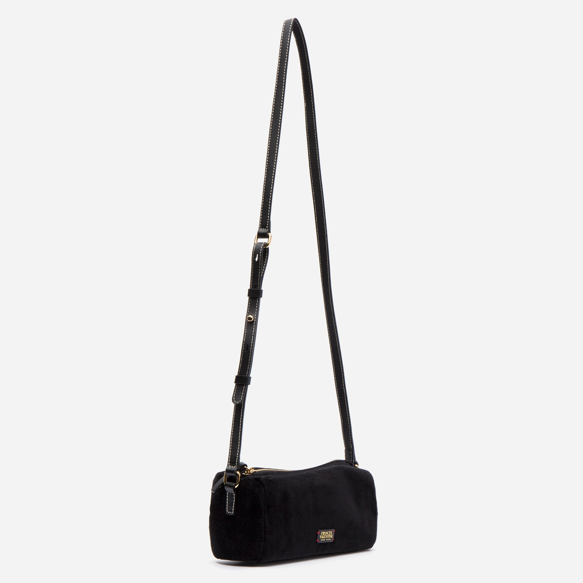 Piper Velvet Crossbody Bag Black