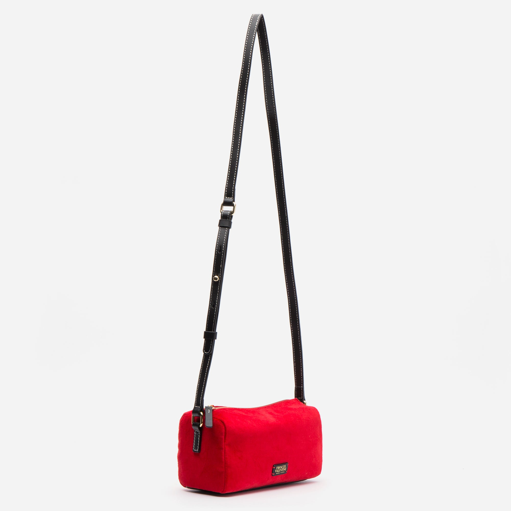 Piper Velvet Crossbody Bag Red