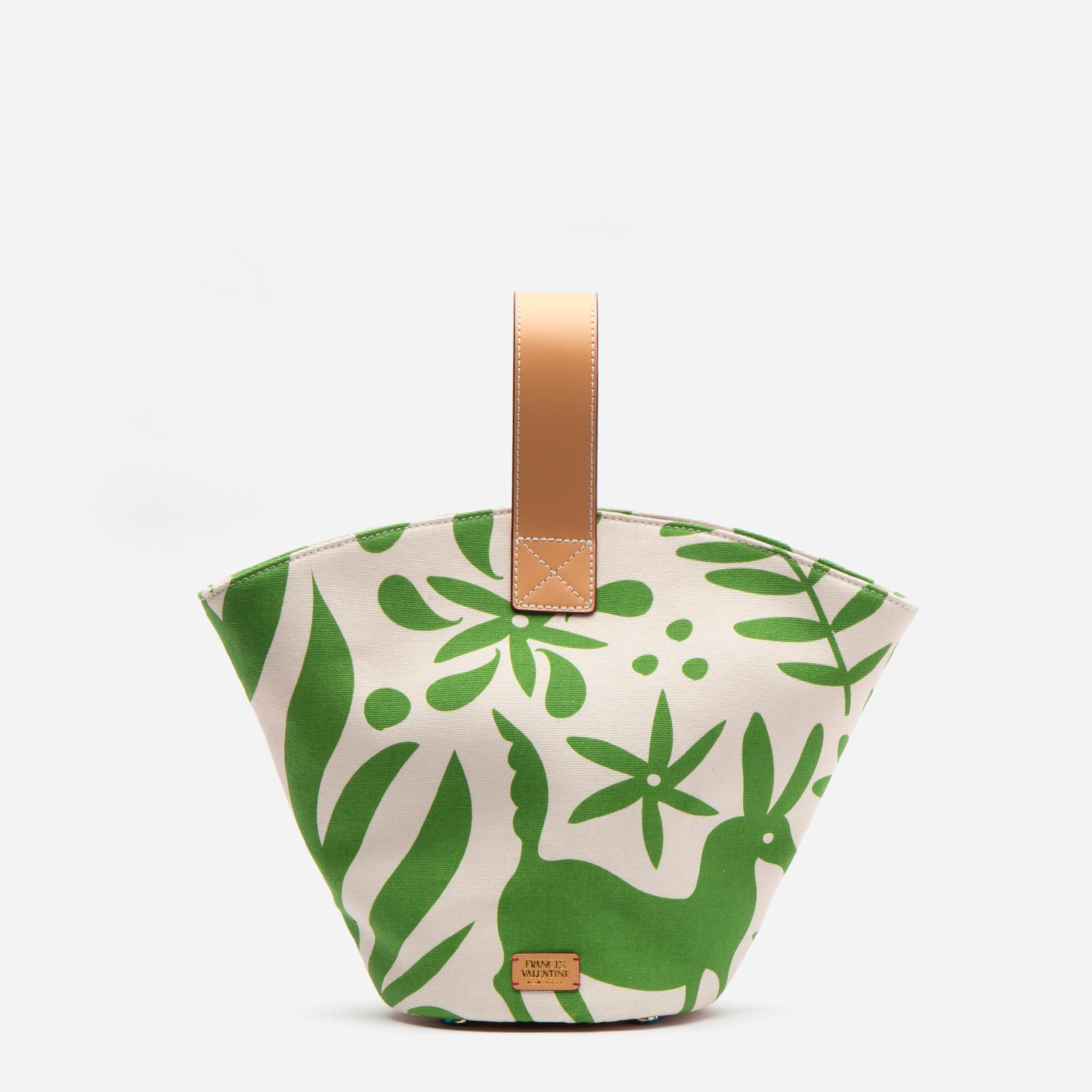 Small Fan Bag Veracruz Canvas Oyster Green - Frances Valentine