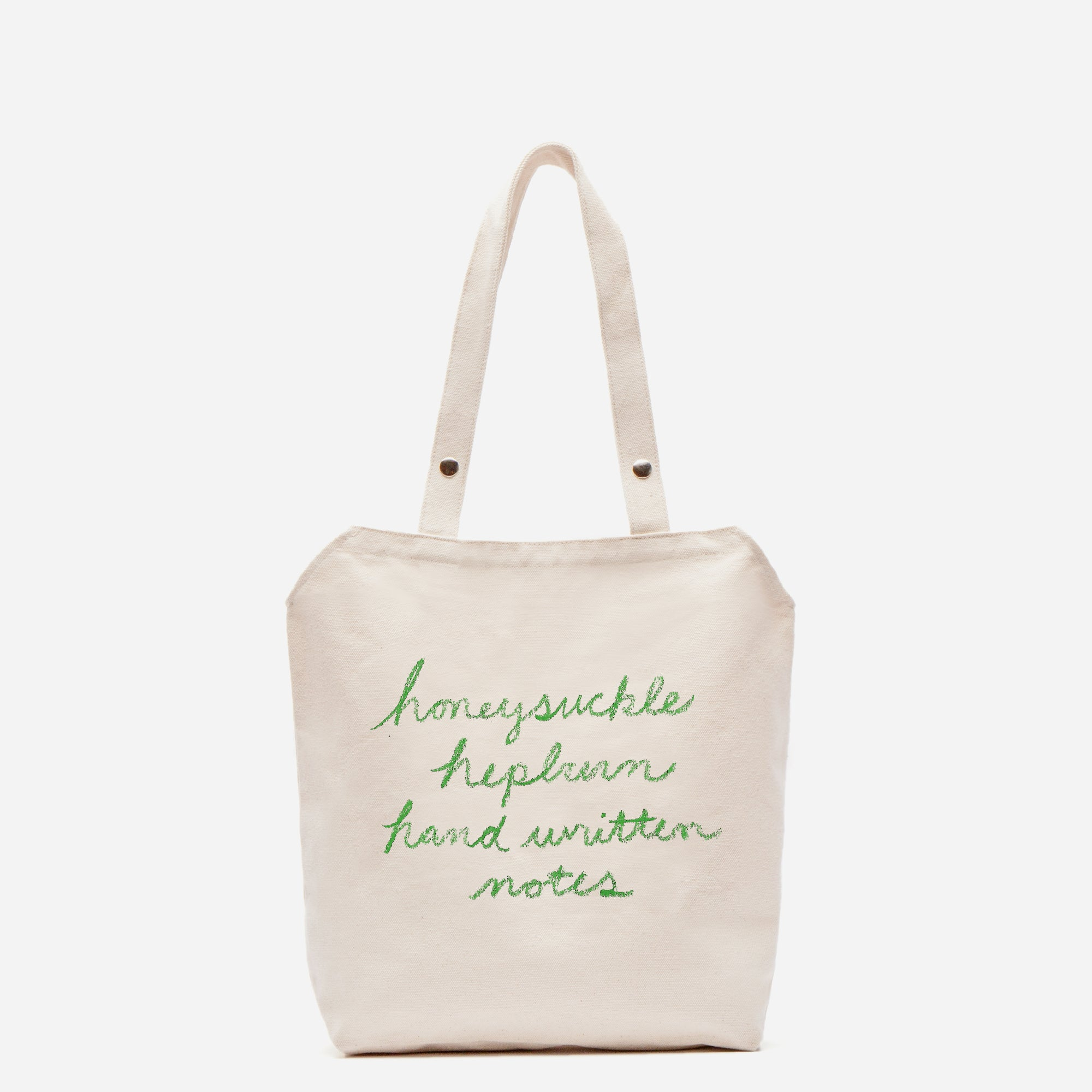 Katy's Favorite Things Canvas Tote Green