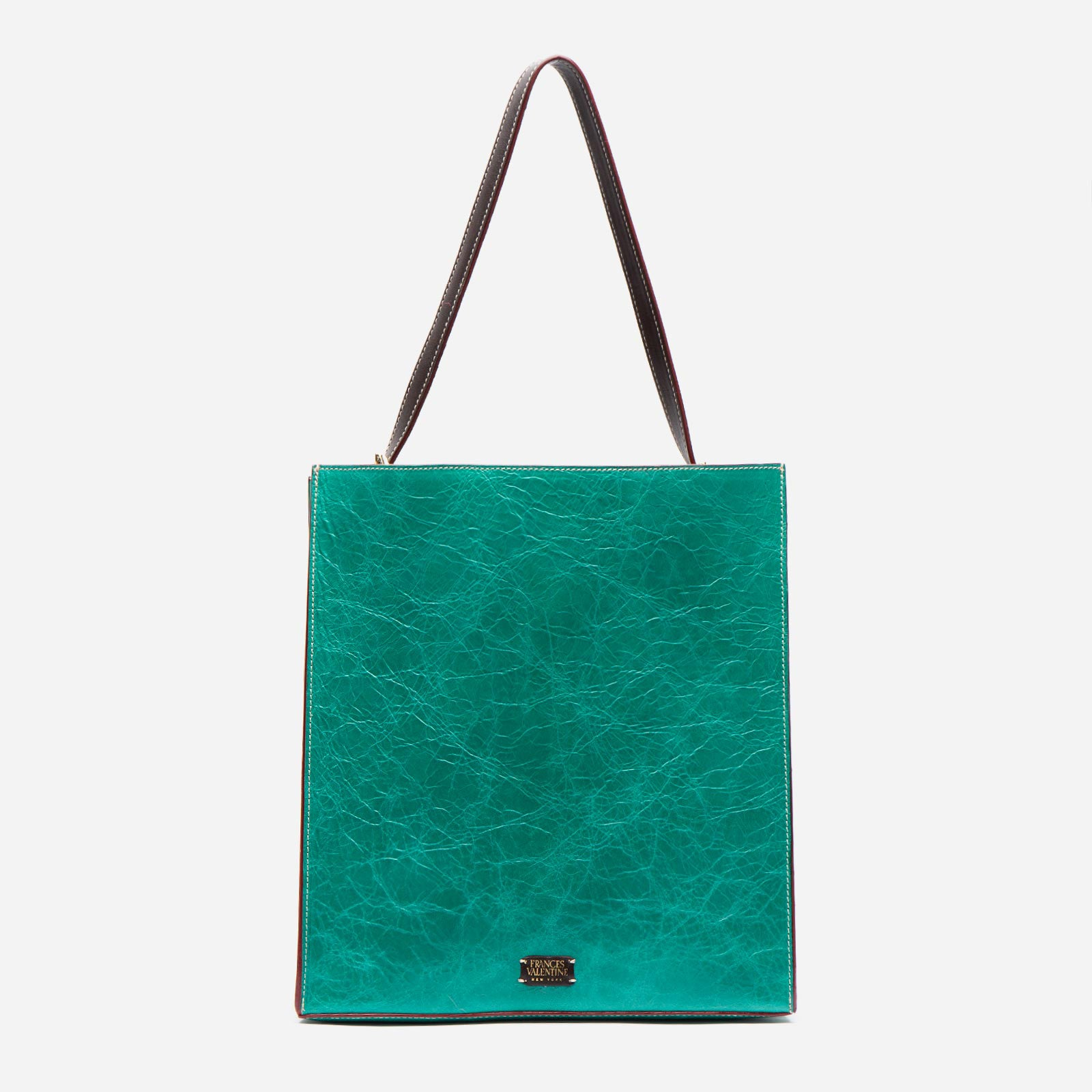 Finn Naplak Leather Green Oyster - Frances Valentine