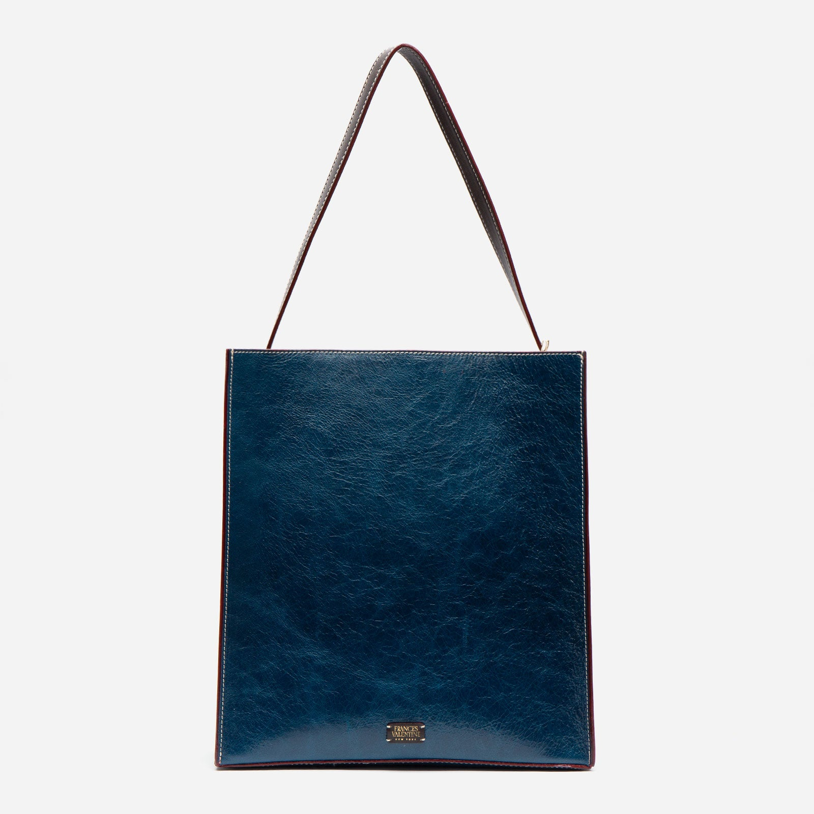 Finn Naplak Leather Navy Oyster - Frances Valentine