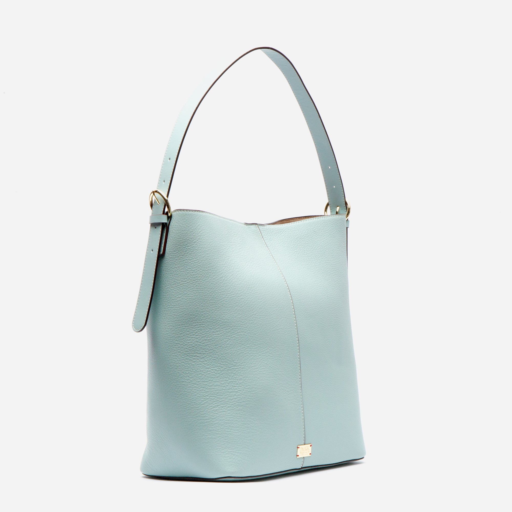 Finn Tumbled Leather Light Blue