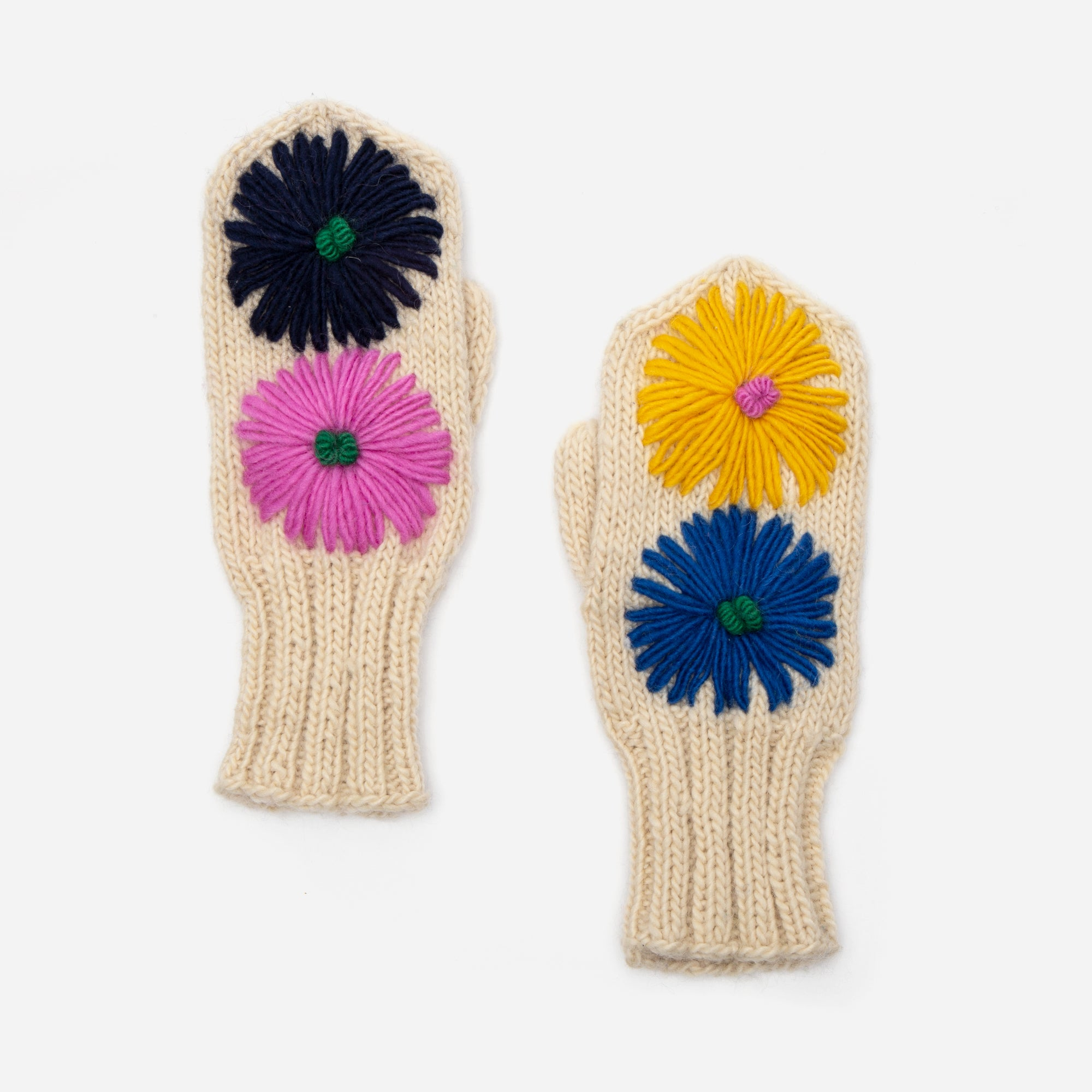 Multi Flower Mittens