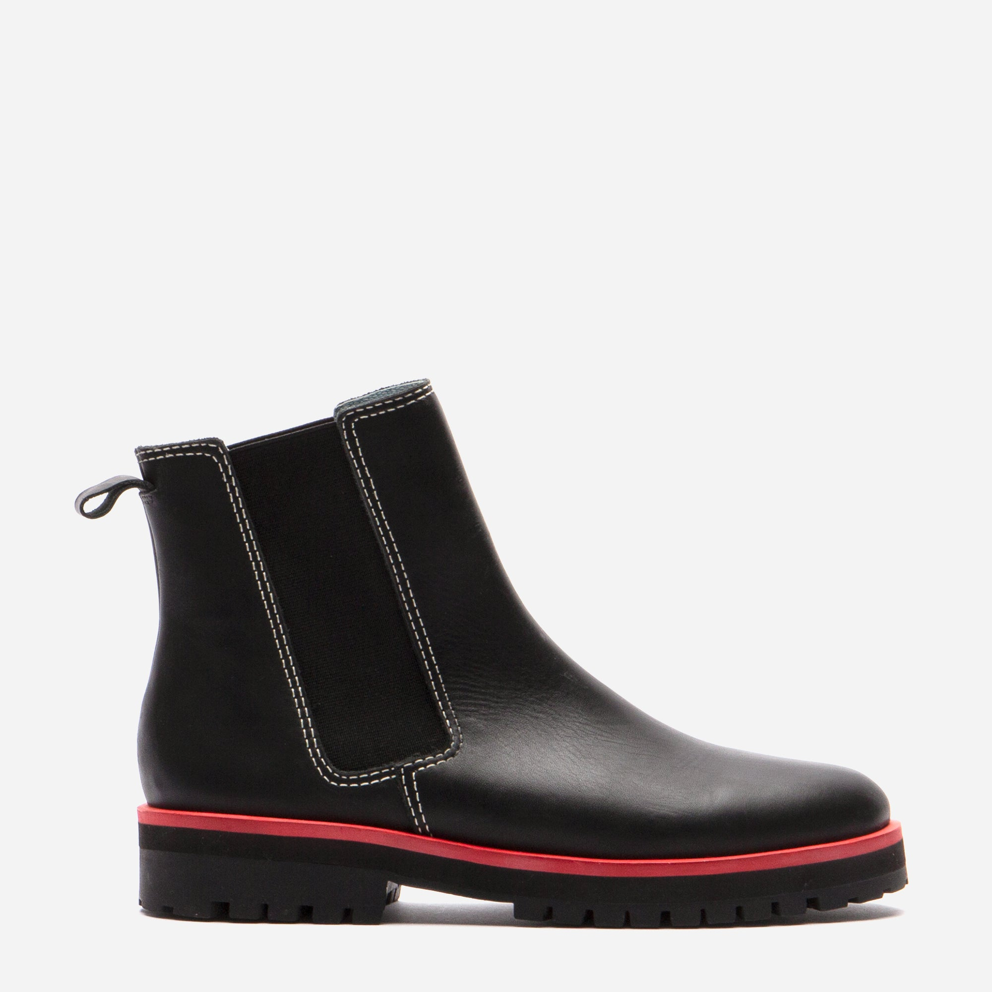 Frank Leather Chelsea Lug Boot Black - Frances Valentine
