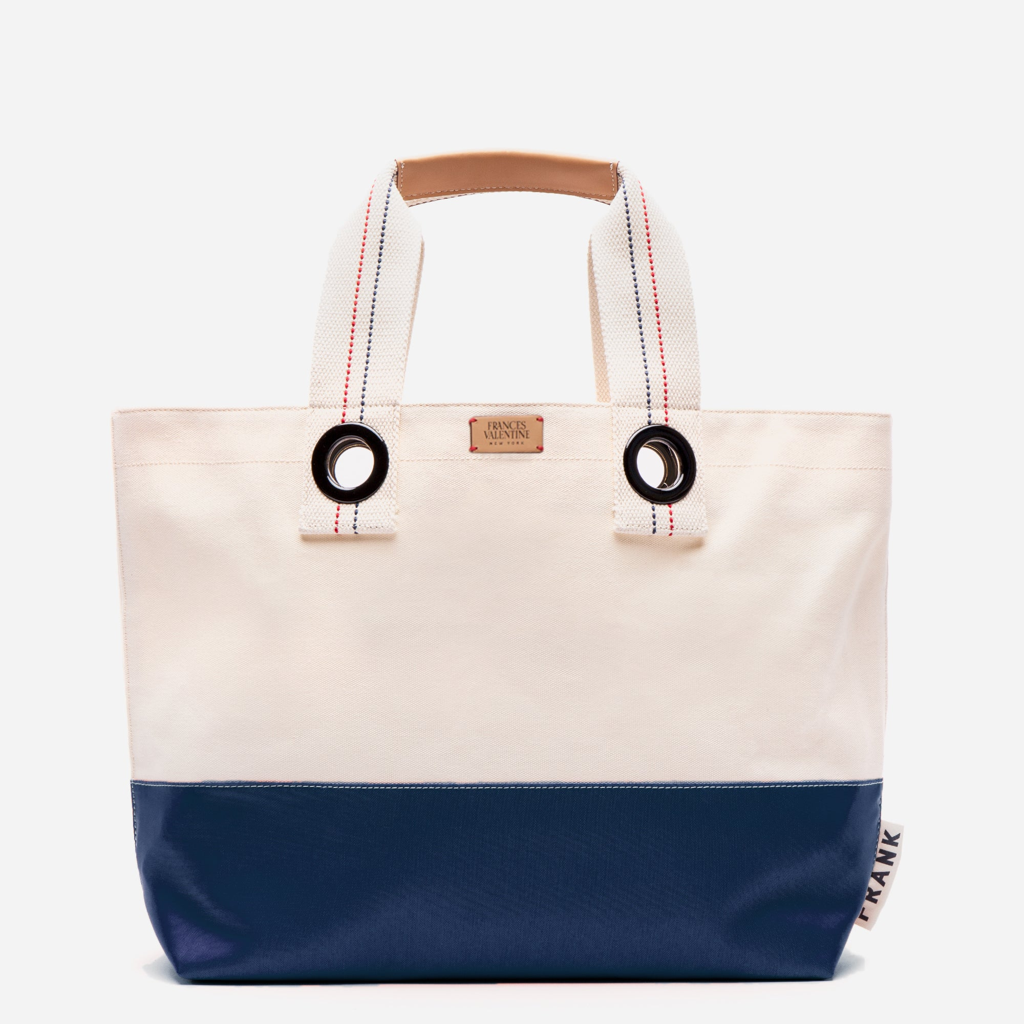 Frank Men's Canvas Weekend Tote Natural Navy - Frances Valentine