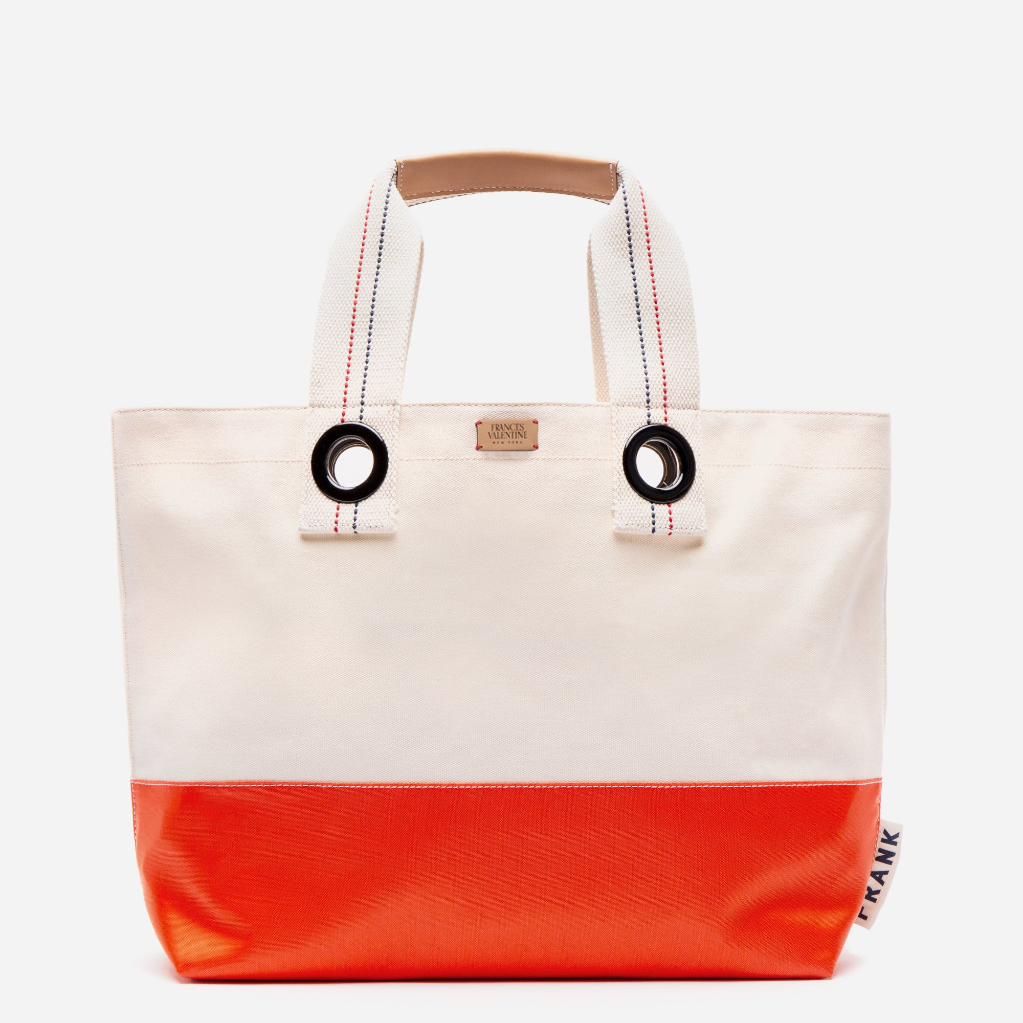 Frank Men's Canvas Weekend Tote Natural Orange - Frances Valentine