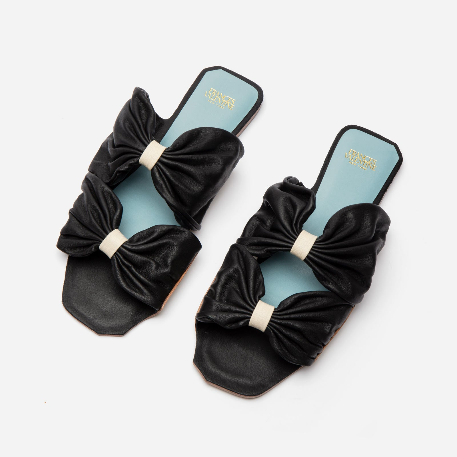 Frenchie Sandal Soft Nappa Black - Frances Valentine
