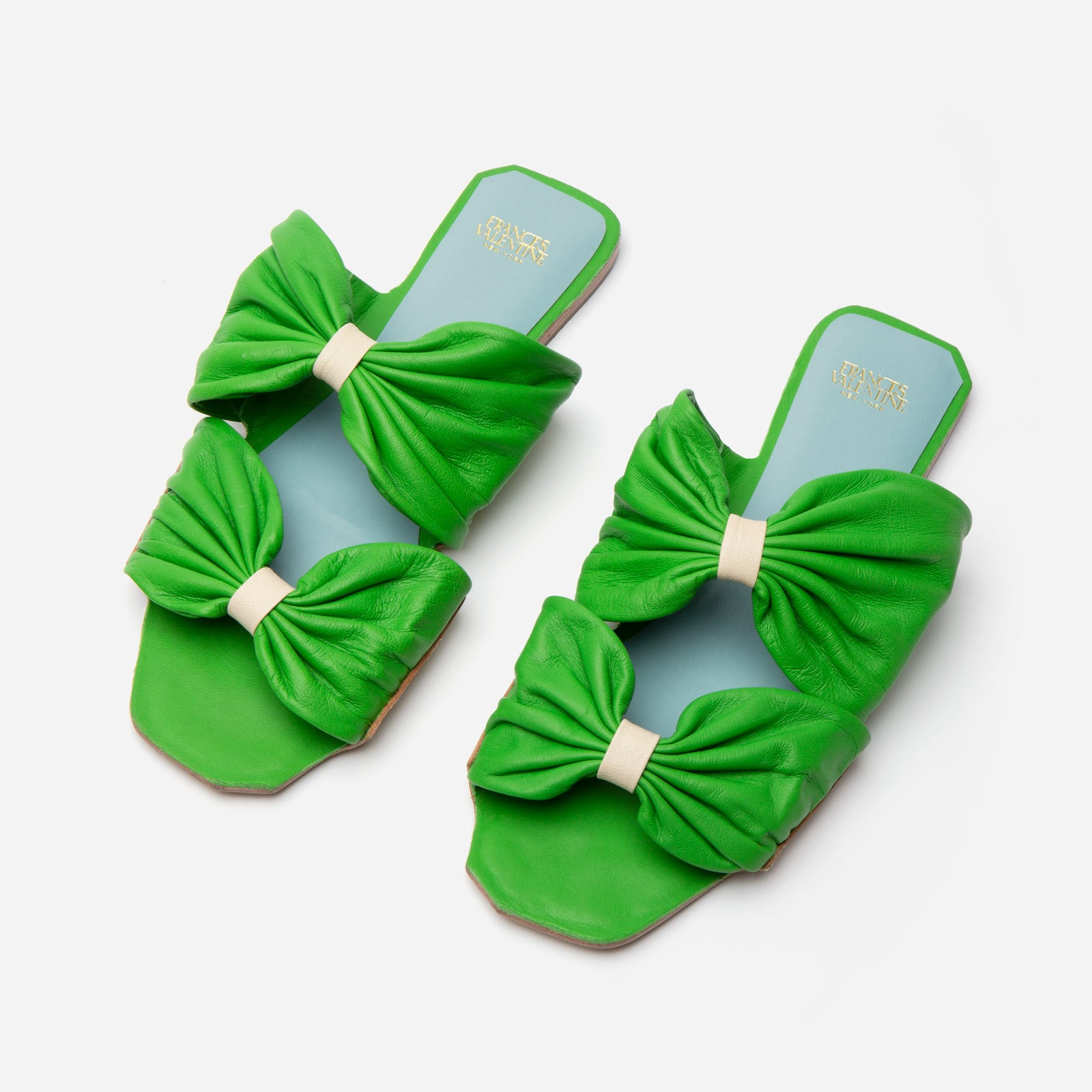 Frenchie Sandal Soft Nappa Green - Frances Valentine