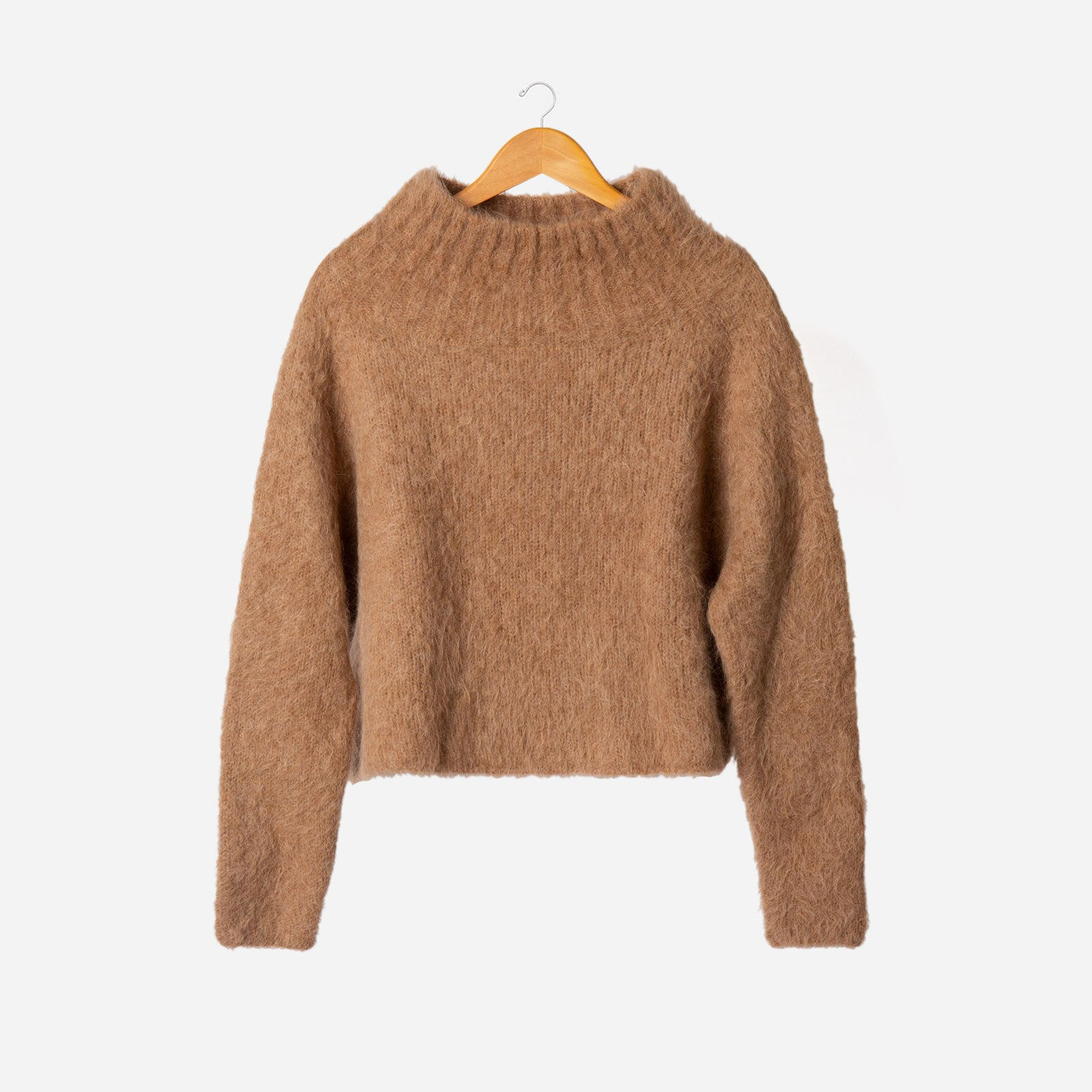 Audrey Funnel Neck Sweater Camel - Frances Valentine