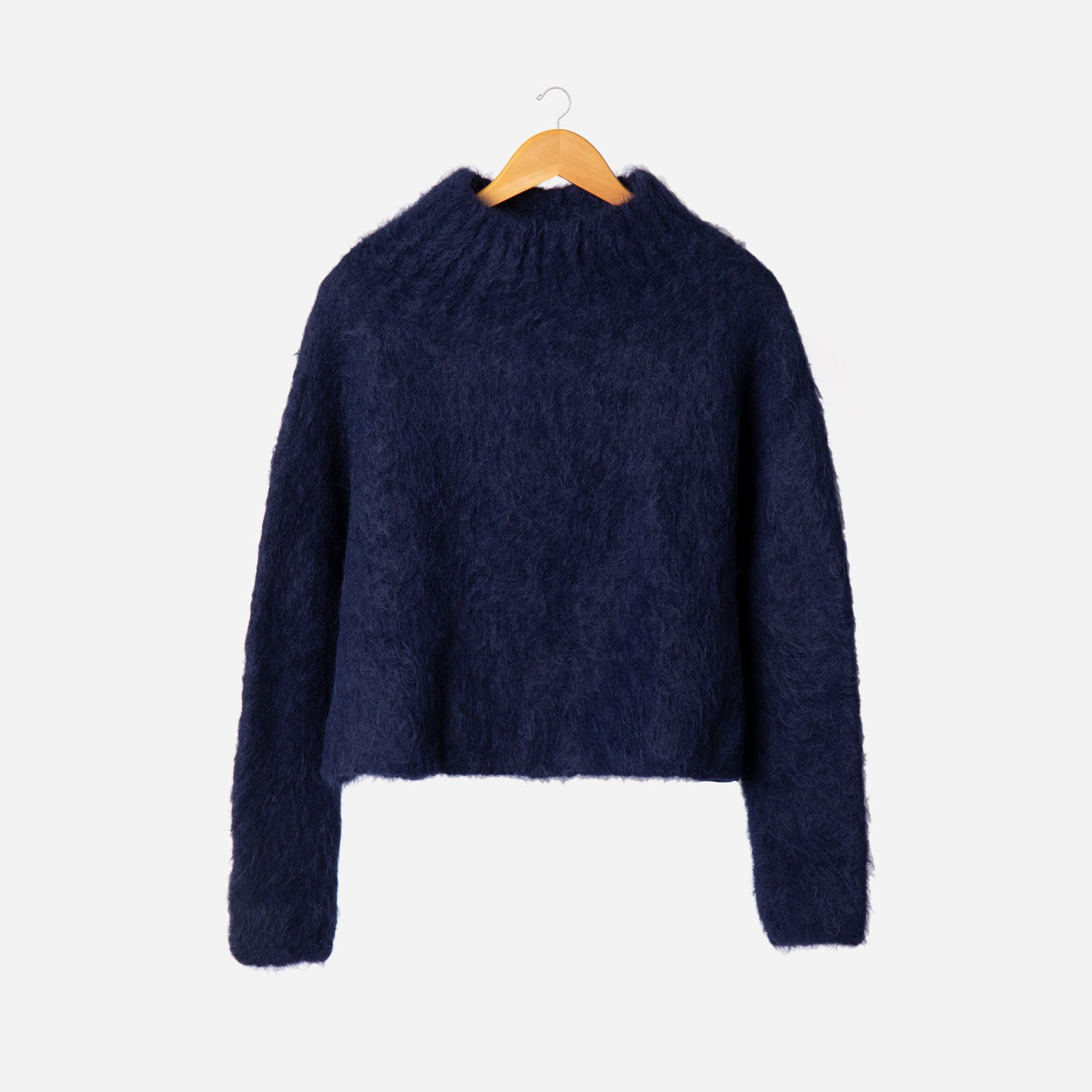 Audrey Funnel Neck Sweater Navy