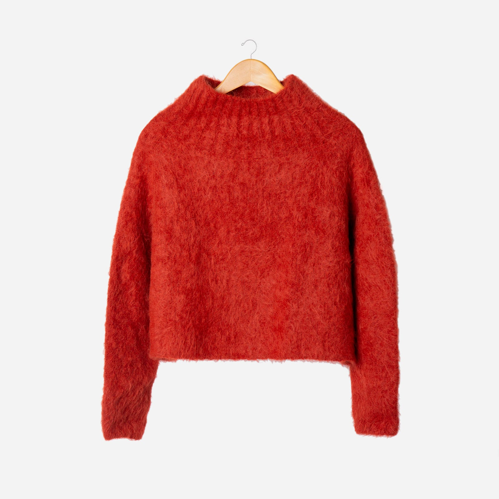 Audrey Funnel Neck Sweater Tomato