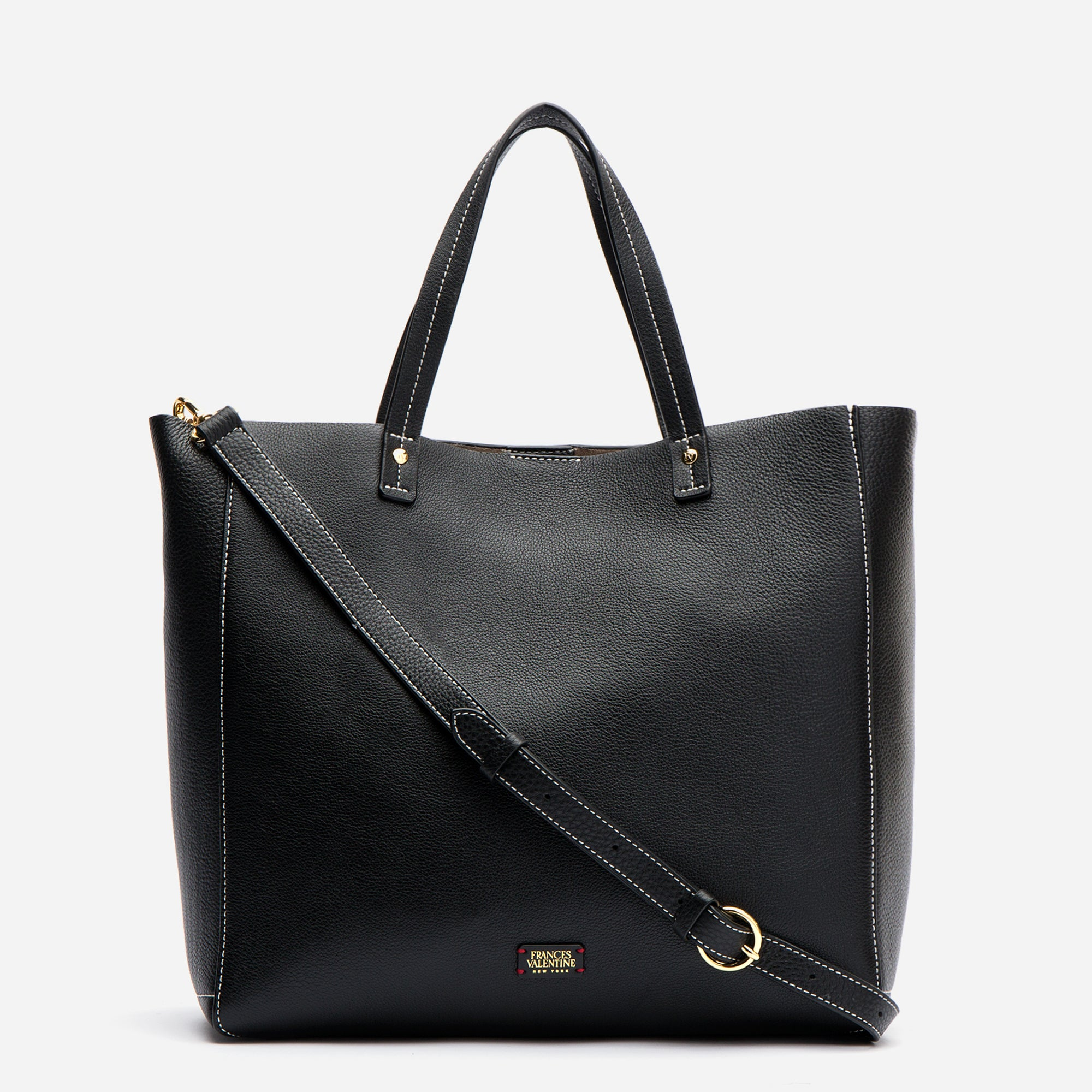 Large Margaret Tote Leather Black