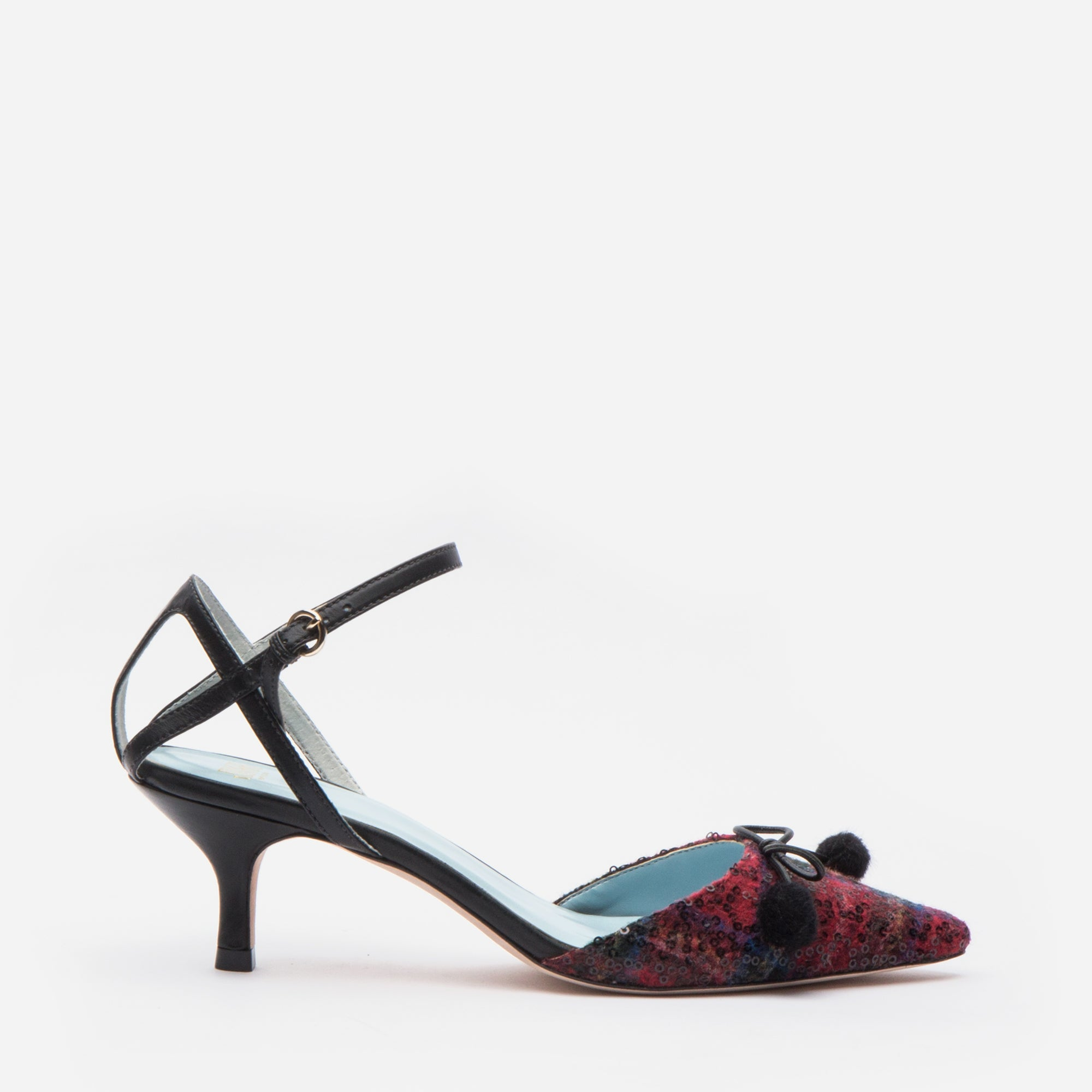 Alister Pointed Toe Pump Royal Plaid