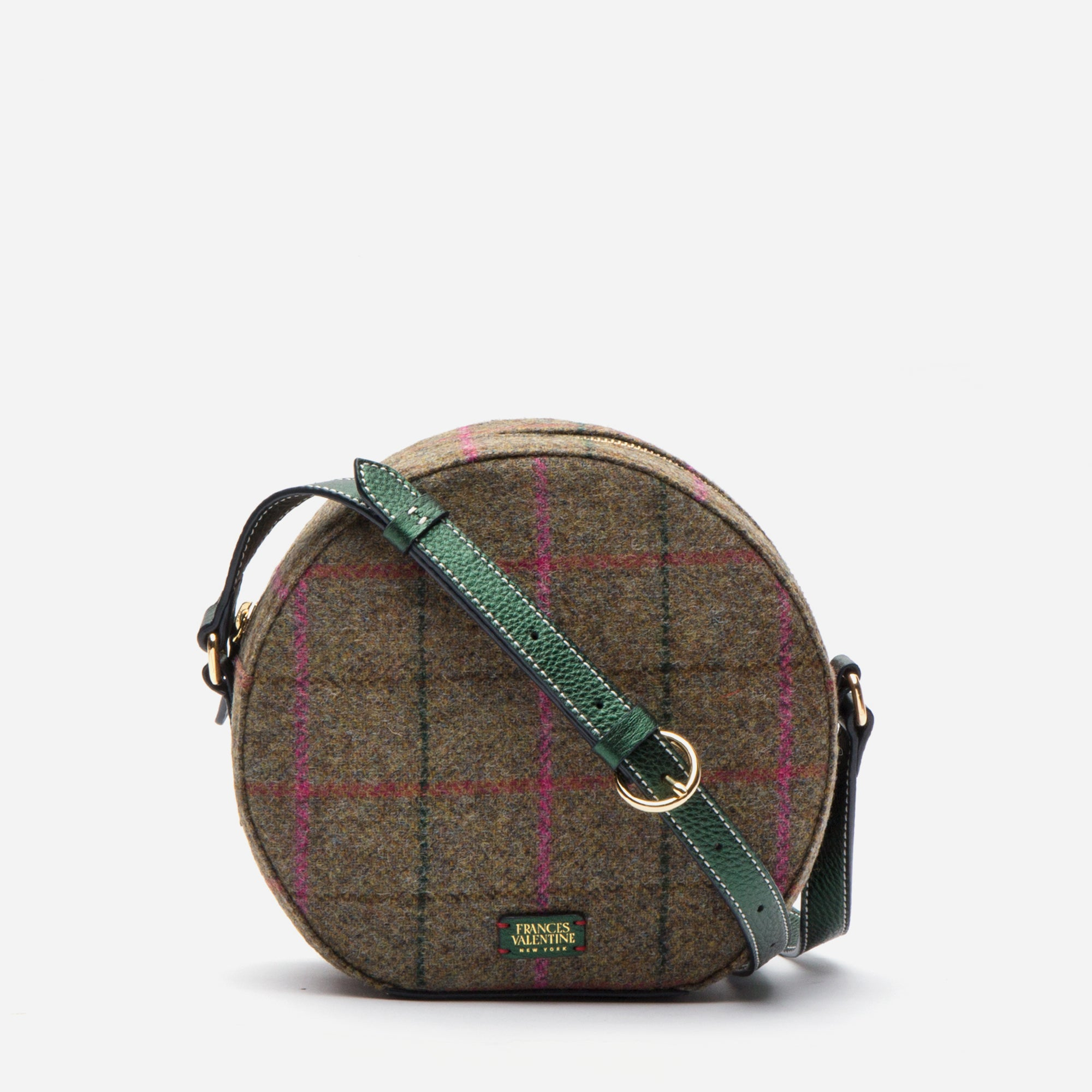 Lulu Round Crossbody Equestrian Plaid
