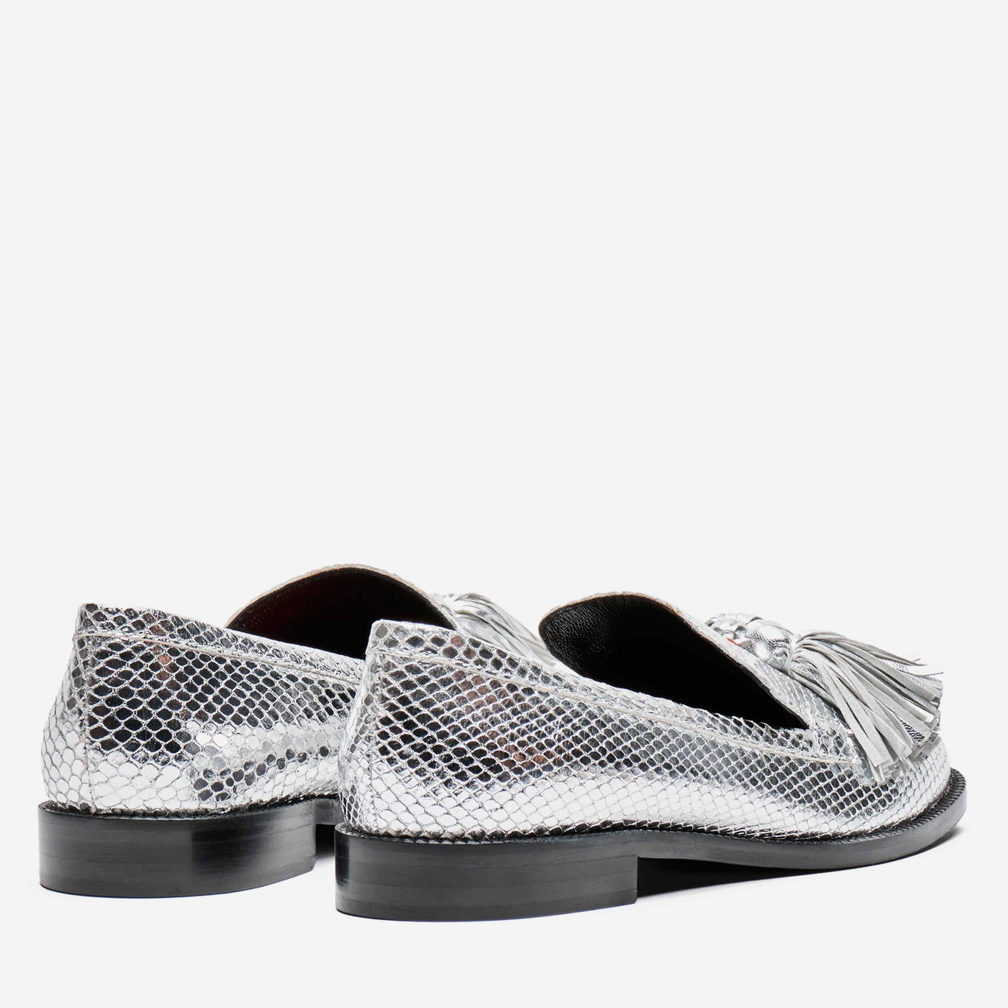 Greta Tasseled Loafer Silver