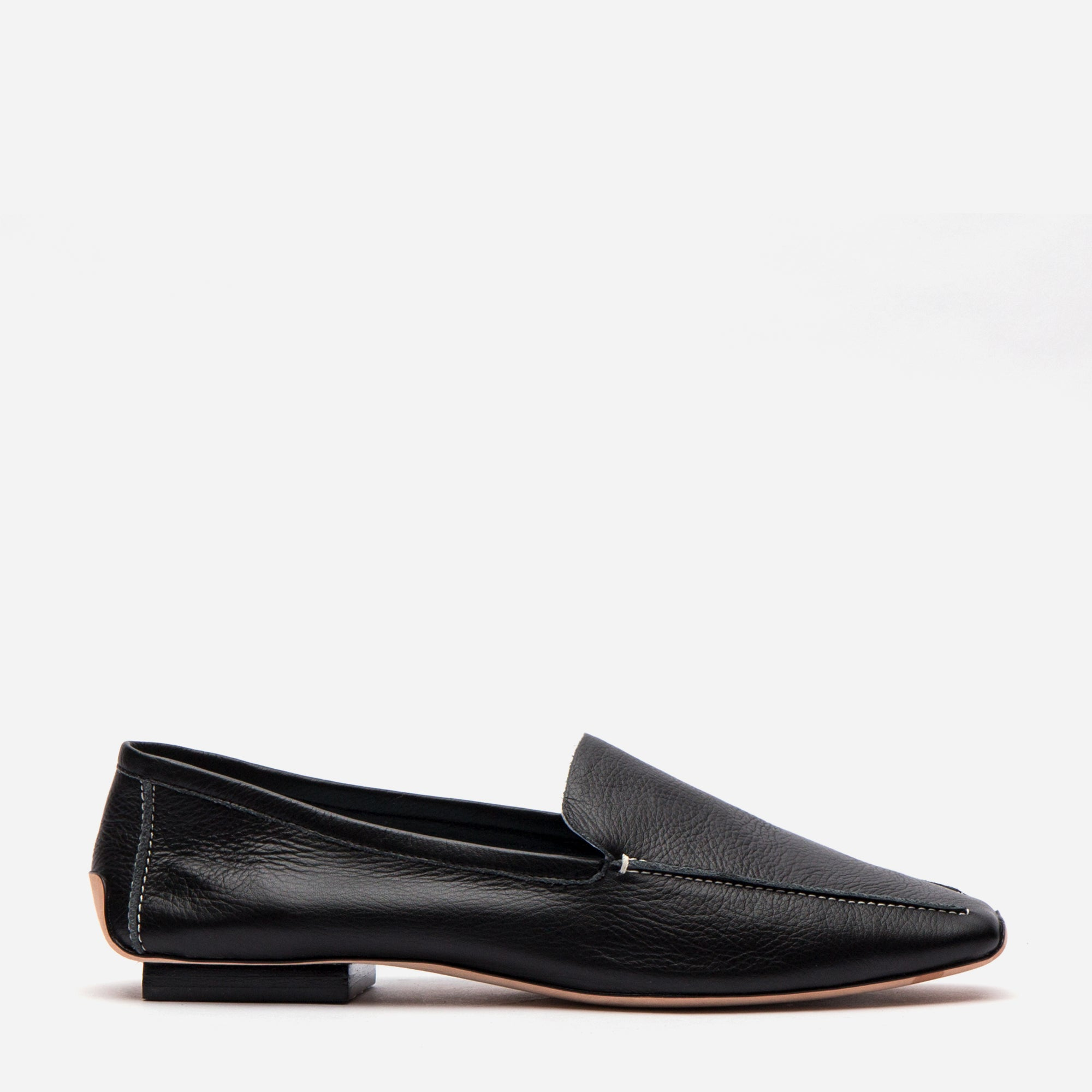 Elyce Loafer Black Leather - Frances Valentine