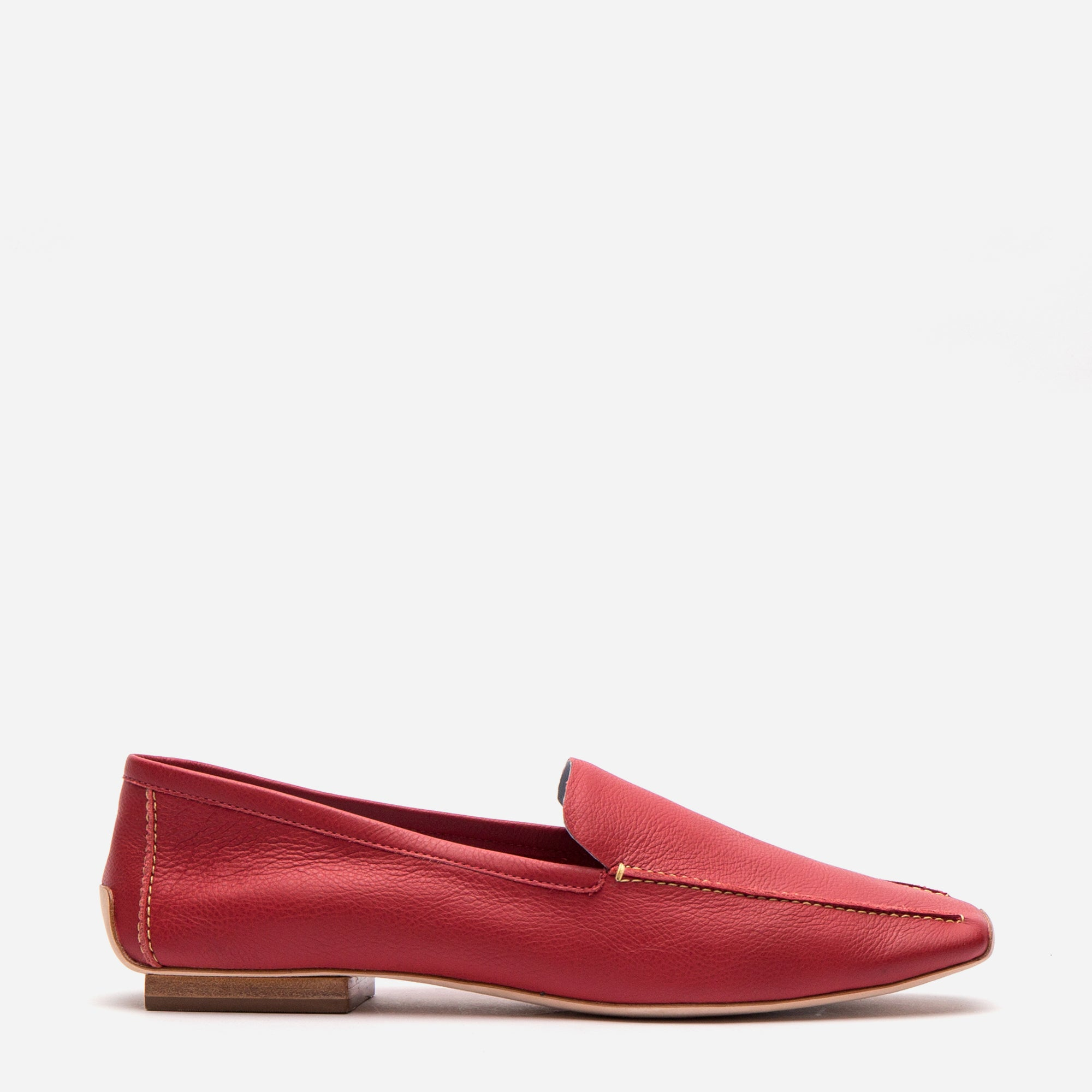 Elyce Loafer Red Leather - Frances Valentine