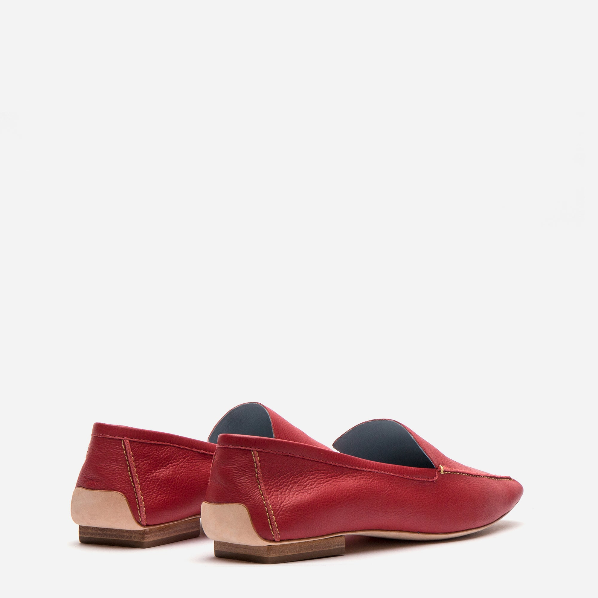 Elyce Loafers Red Leather