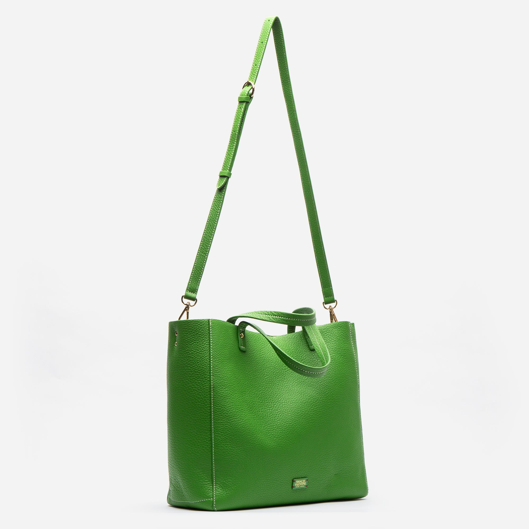 Large Margaret Tote Leather Grass