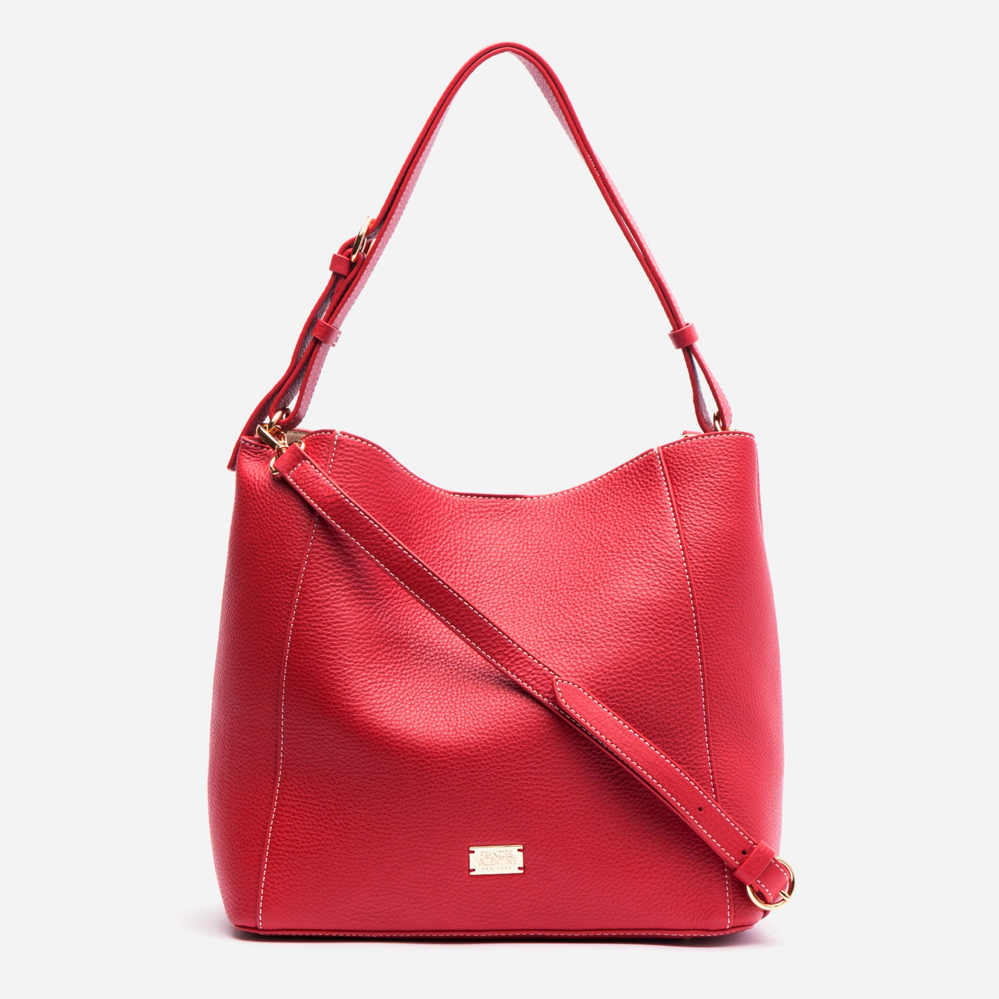 Medium June Hobo Leather Red - Frances Valentine
