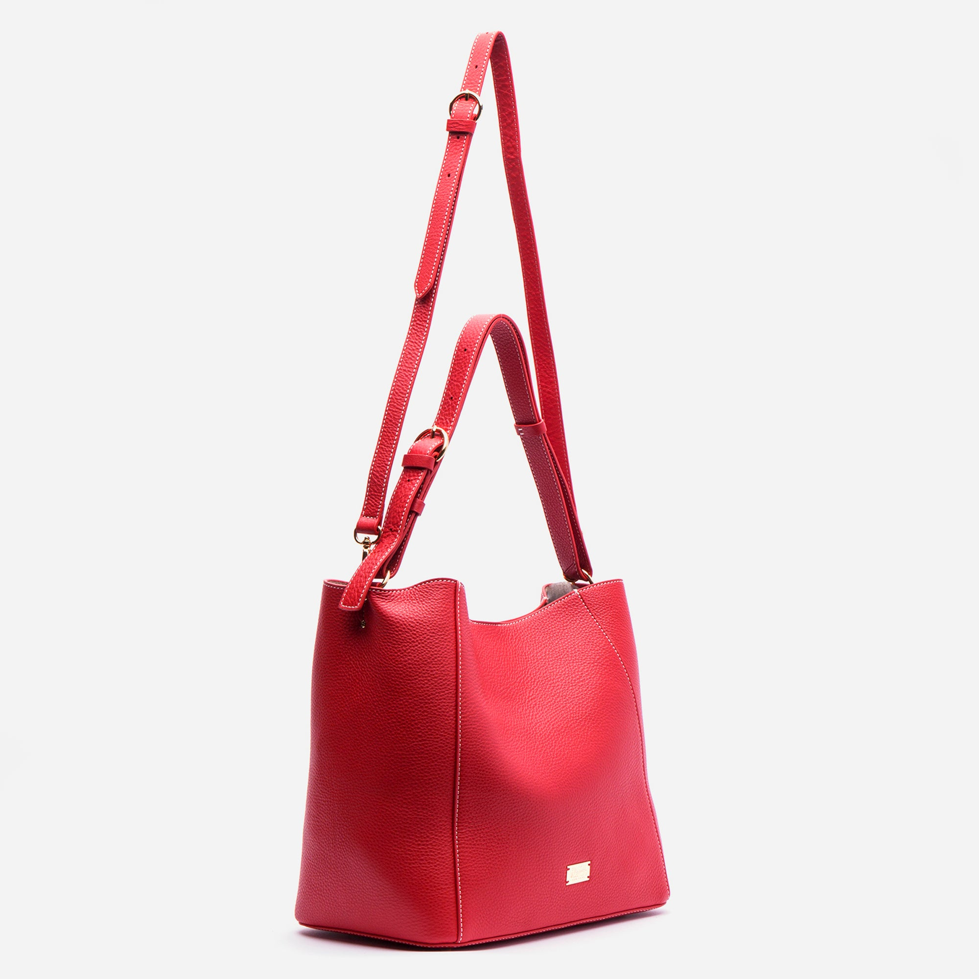 Medium June Hobo Leather Red
