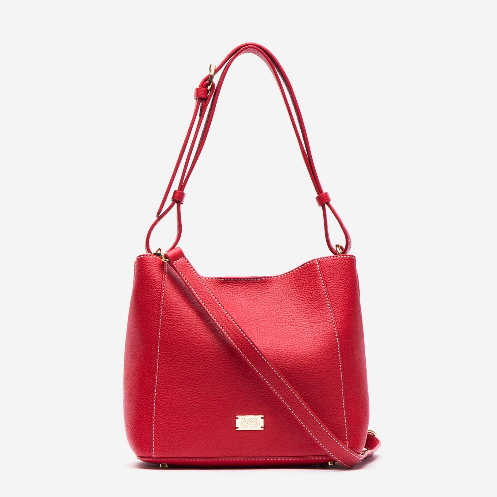 Small June Tumbled Leather Red