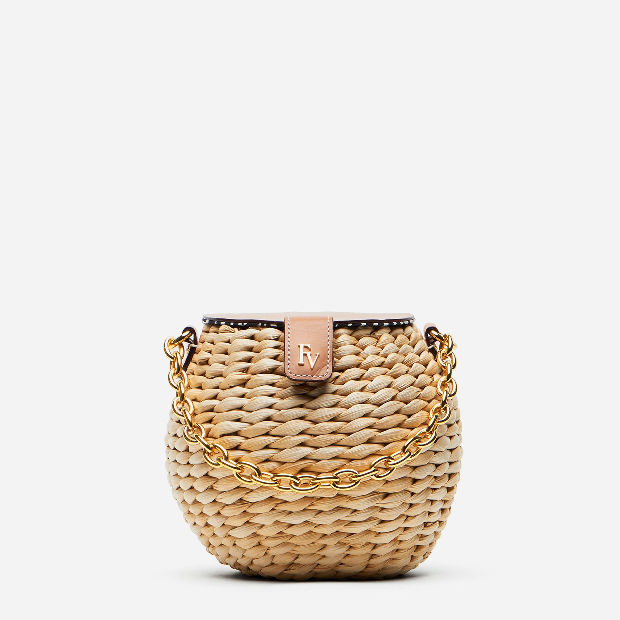Honeypot Basket Vachetta Leather Natural