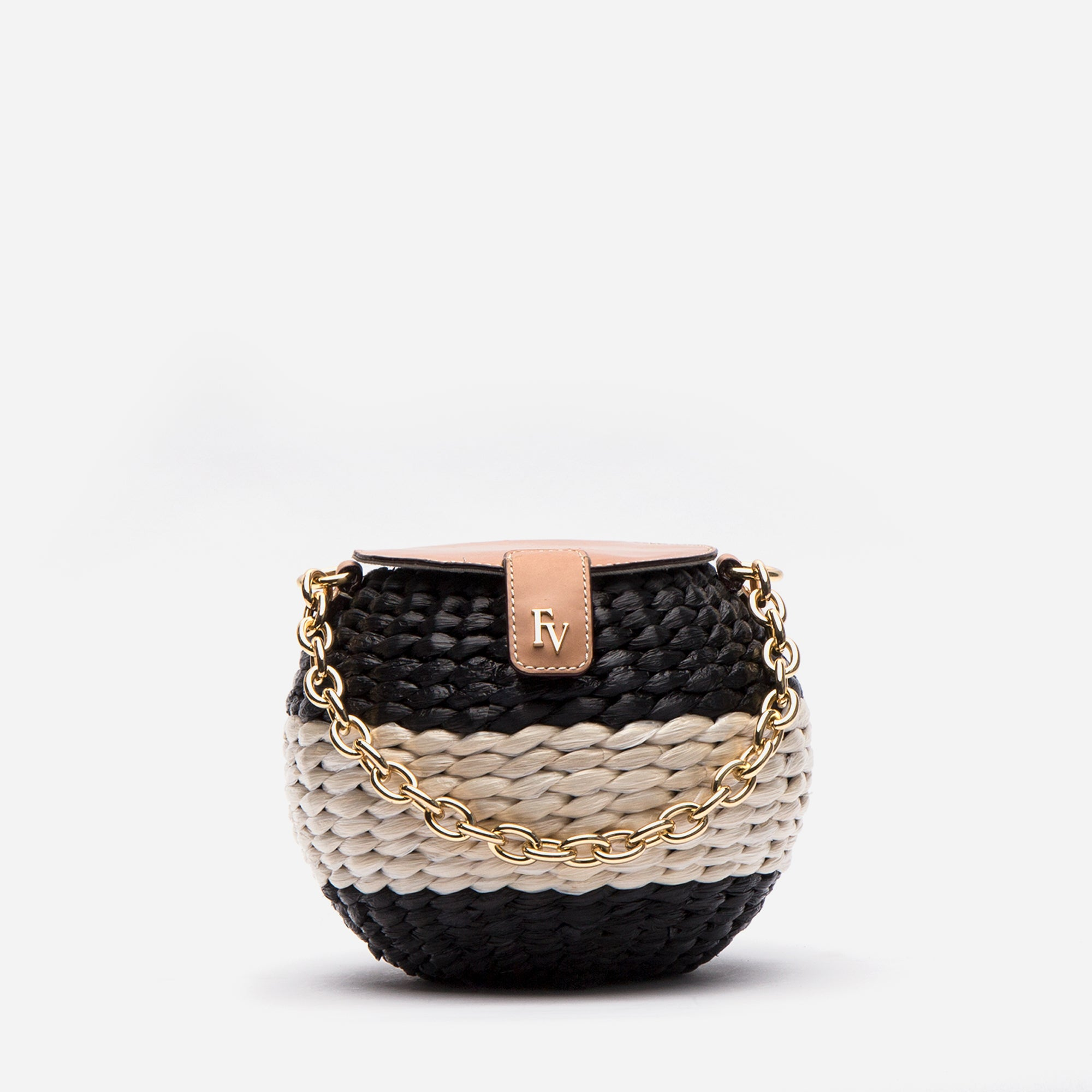 Honeypot Basket Colorblock Black