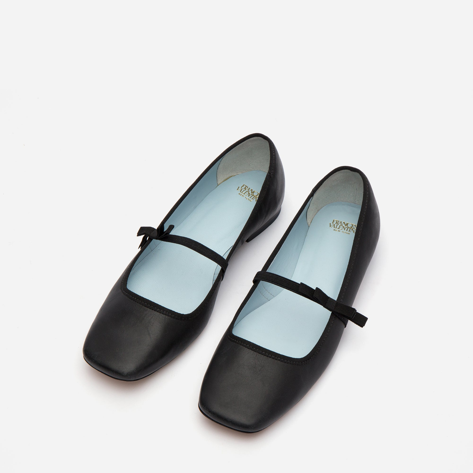 Jude Mary Jane Leather Flats Black