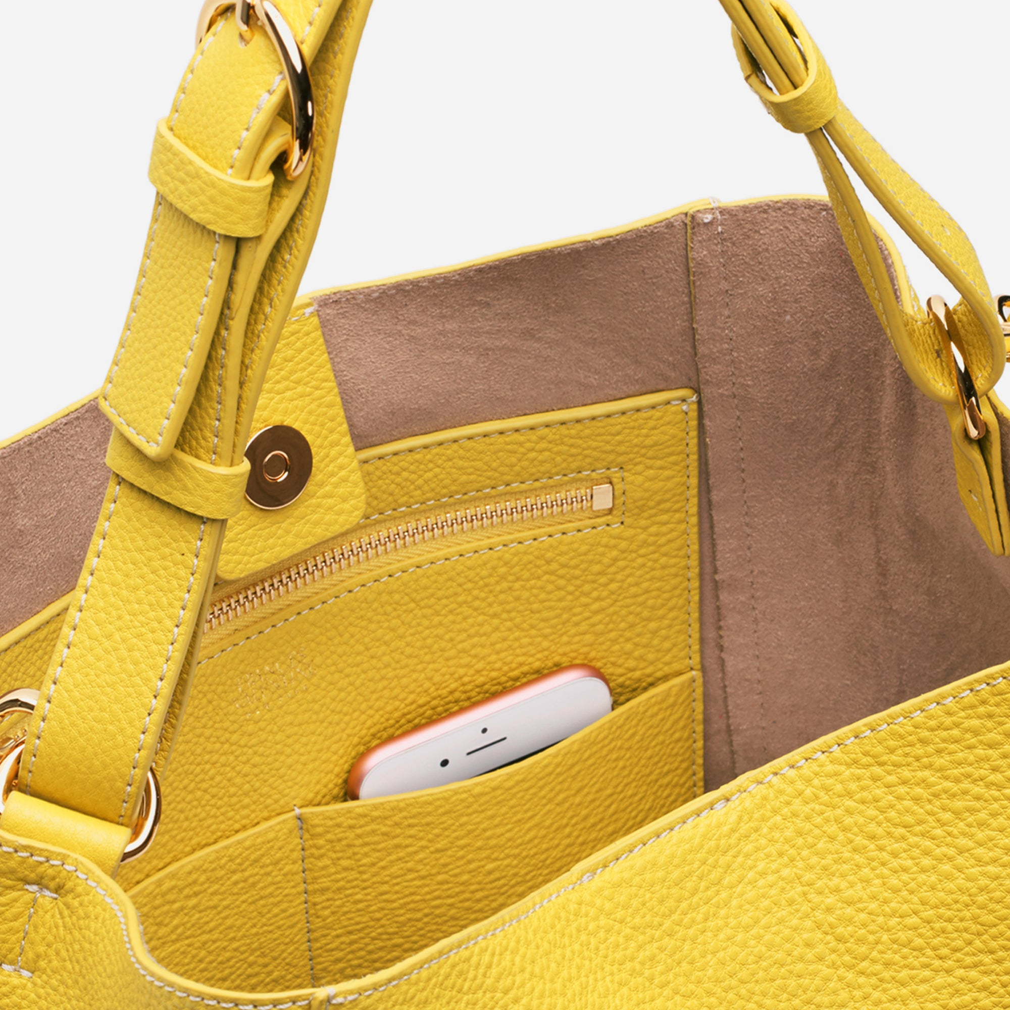 June Hobo Handbag Leather Canary