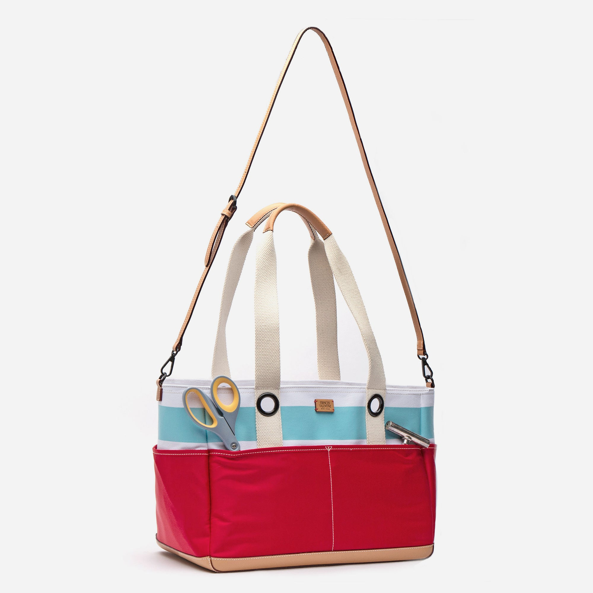 Gibson Beach Gardening Tote Light Blue Red