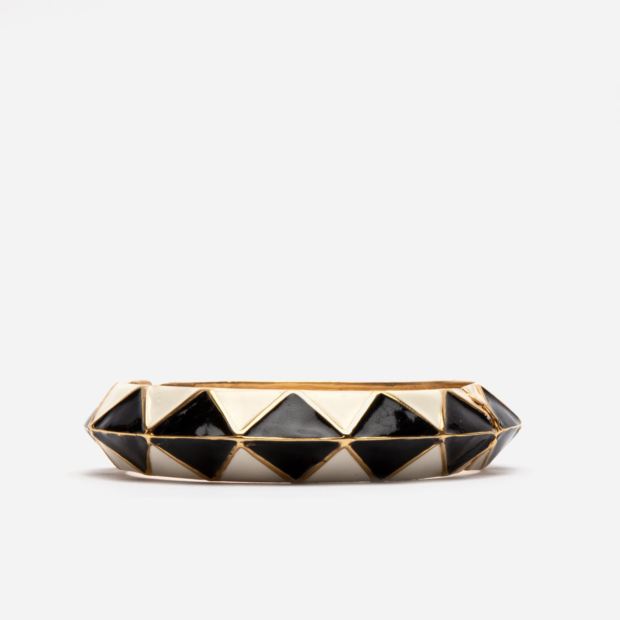 Geometric Hinge Bangle - Frances Valentine