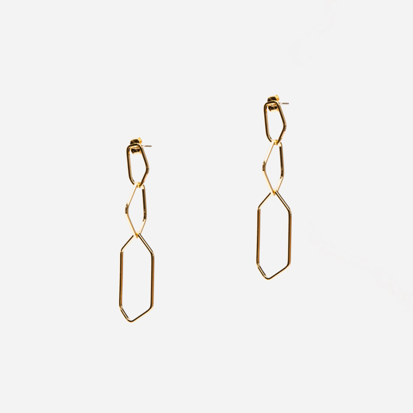 Geo Link Earrings
