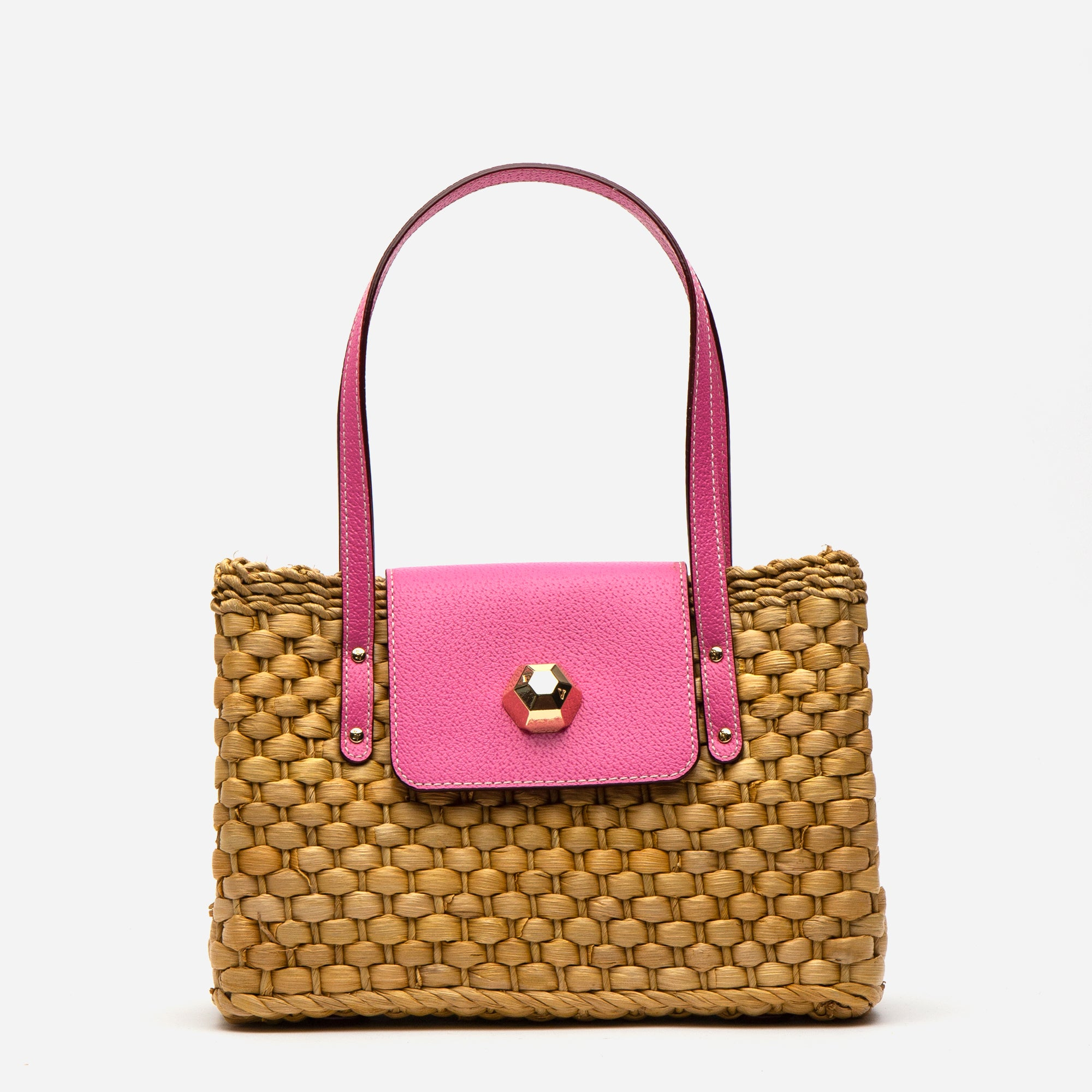 Gigi Basket Bag Pink