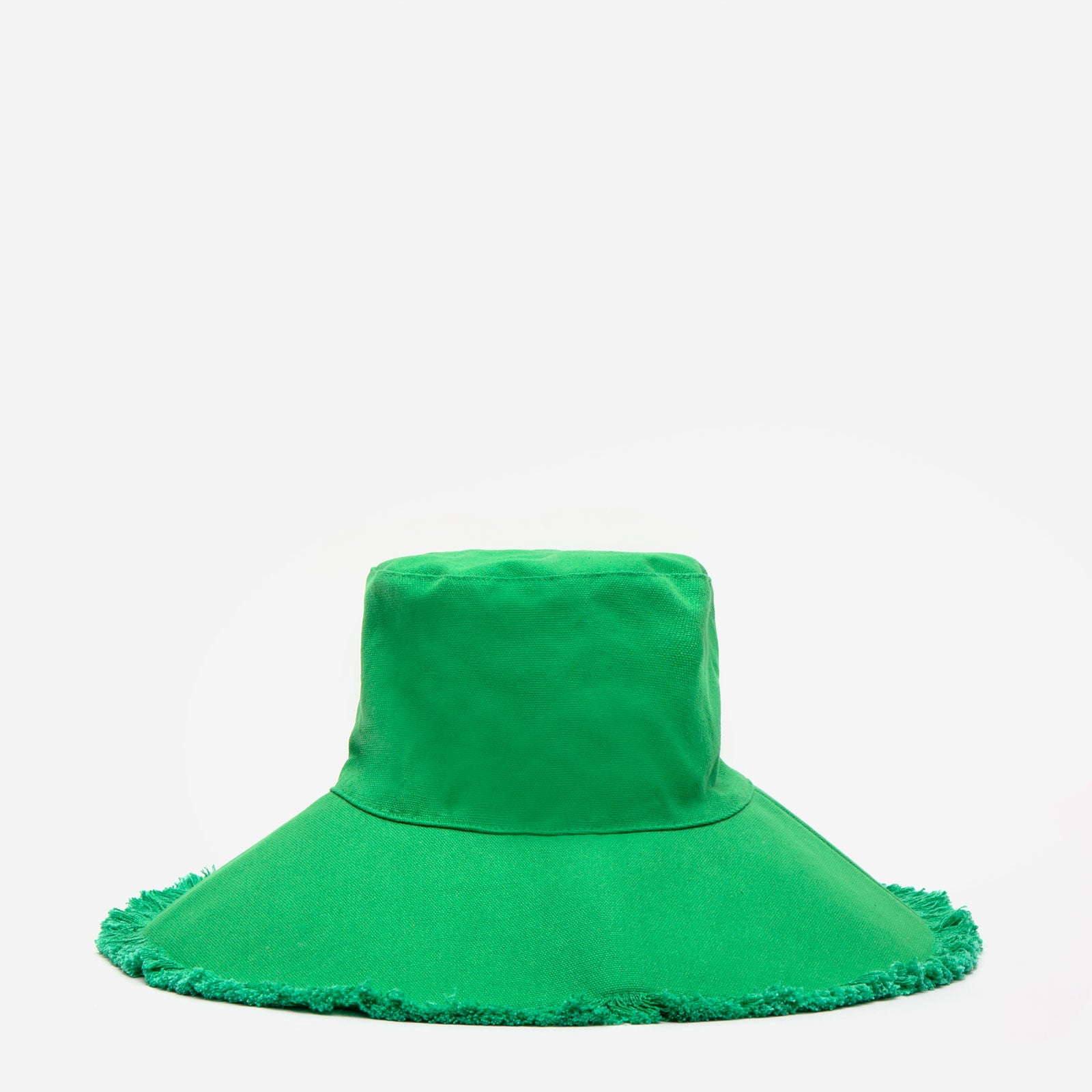 Canvas Fringe Hat Green - Frances Valentine