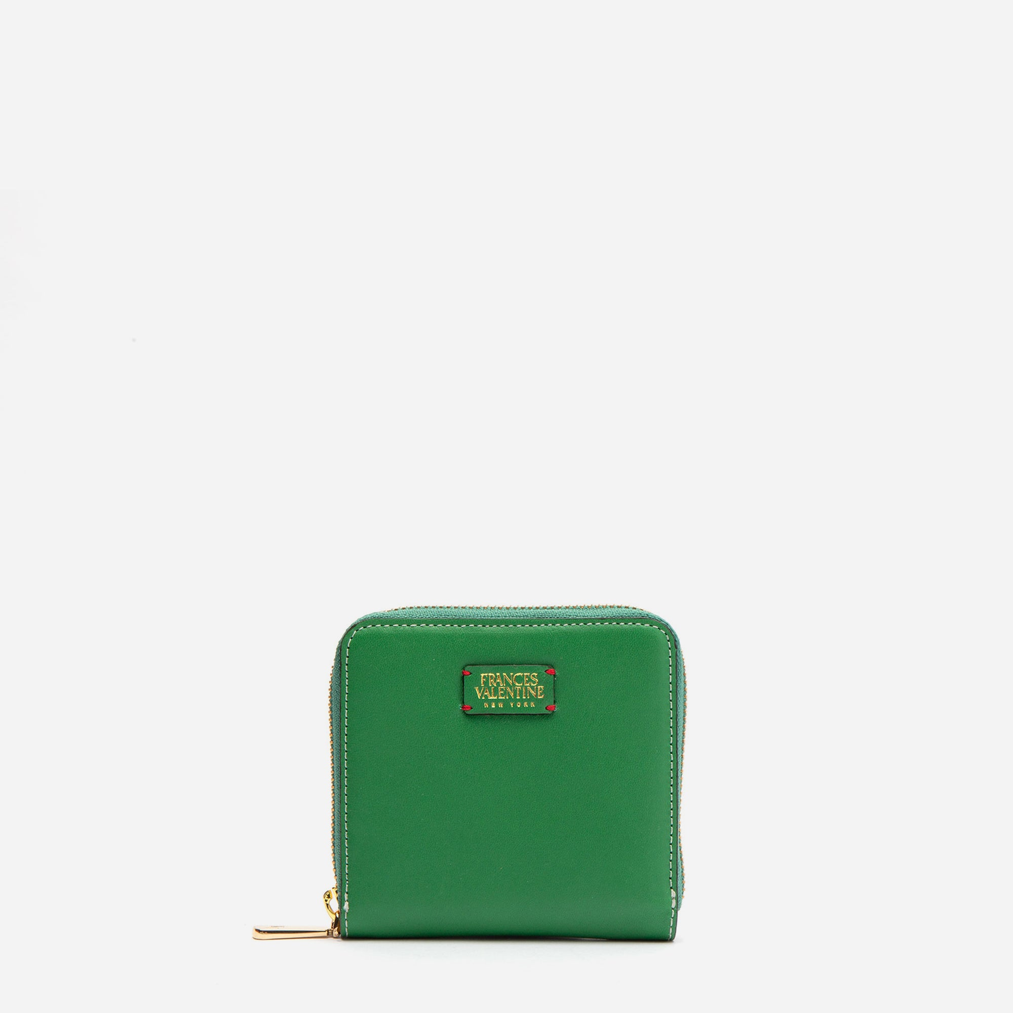 Roosevelt Small Zip Wallet Green Yellow - Frances Valentine